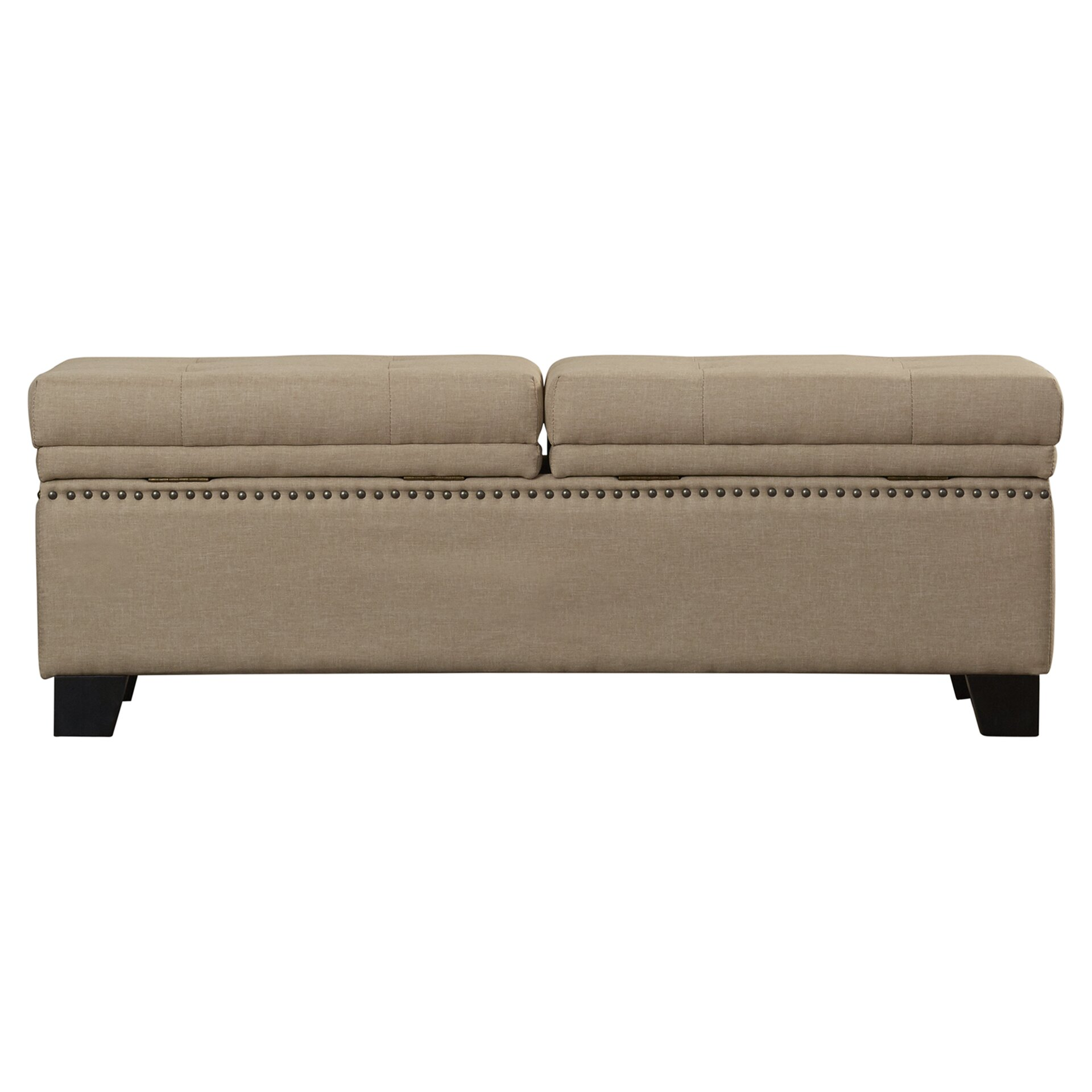 Darby home co moffet hinged upholstered storage bedroom Upholstered benches