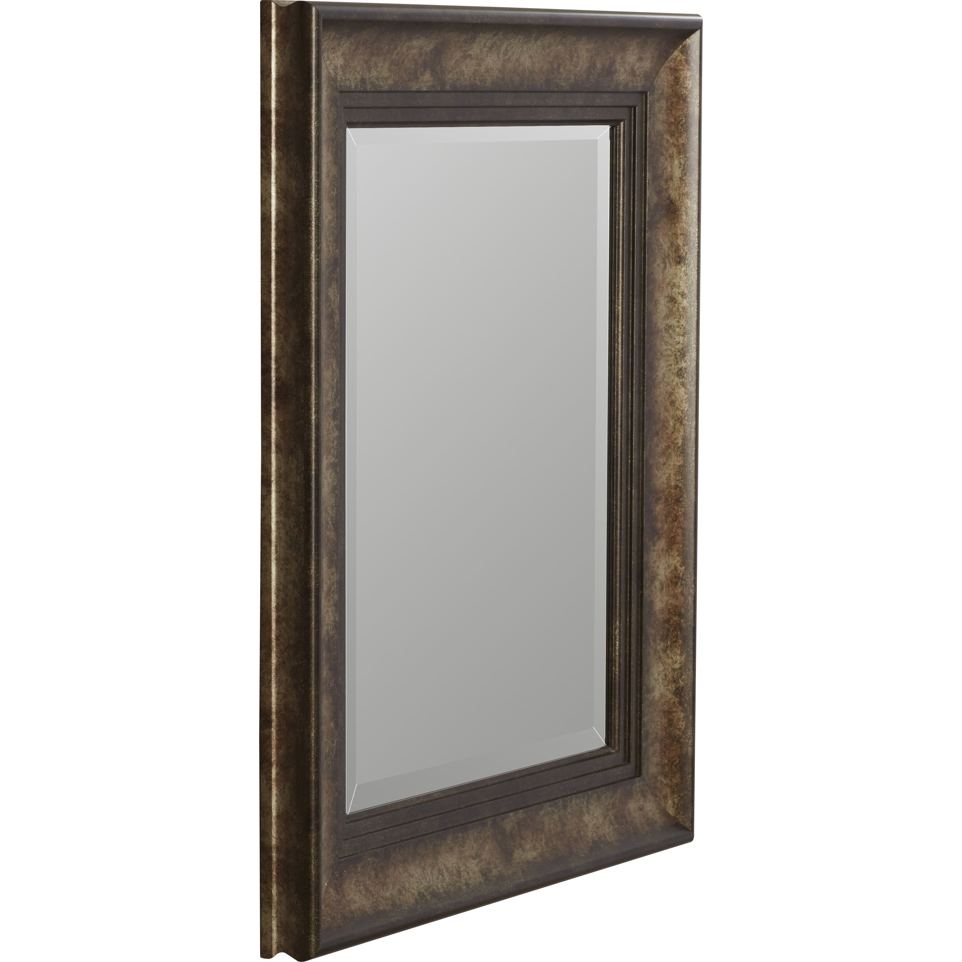 Darby home co framed beveled plate glass mirror reviews for Beveled glass mirror