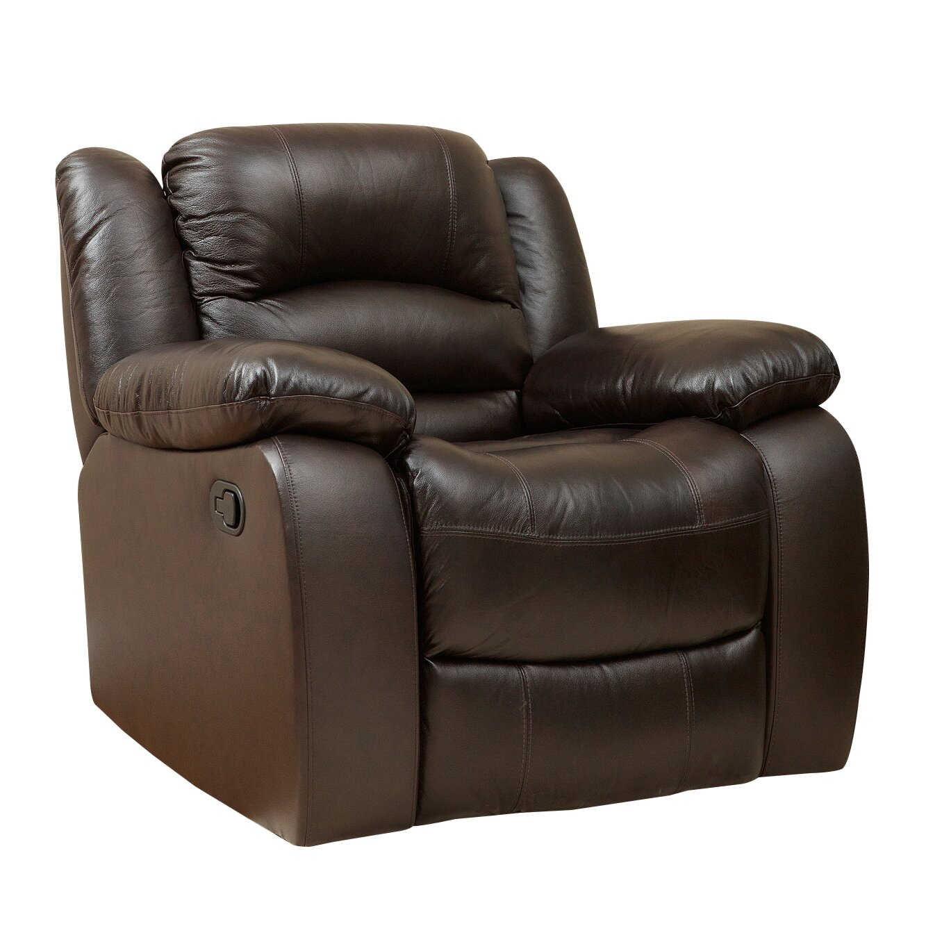Darby home co jorgensen leather chaise recliner reviews for Chaise and recliner