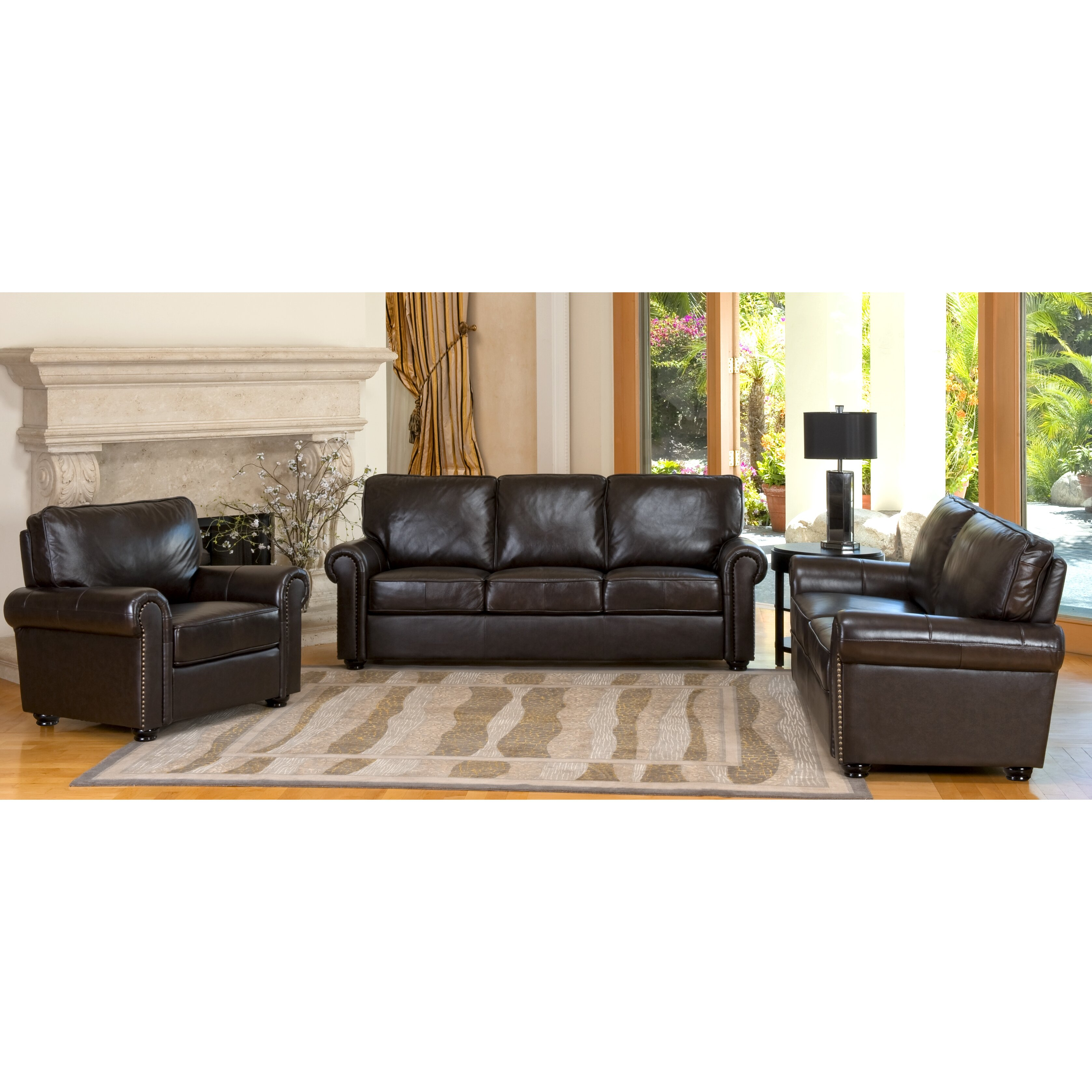 Darby Home Co Coggins Leather Sofa Reviews Wayfair