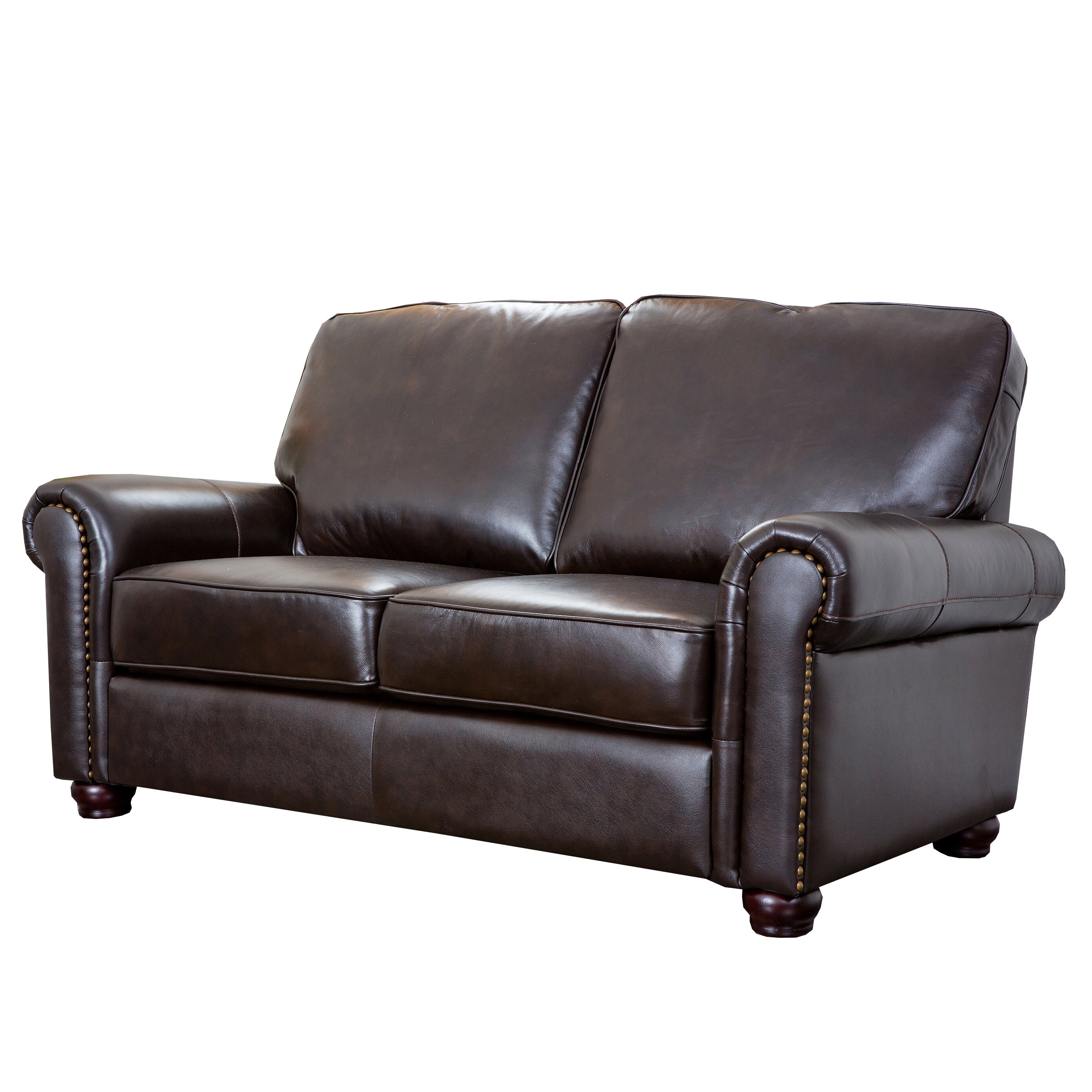 Darby Home Co Coggins Leather Loveseat Reviews Wayfair