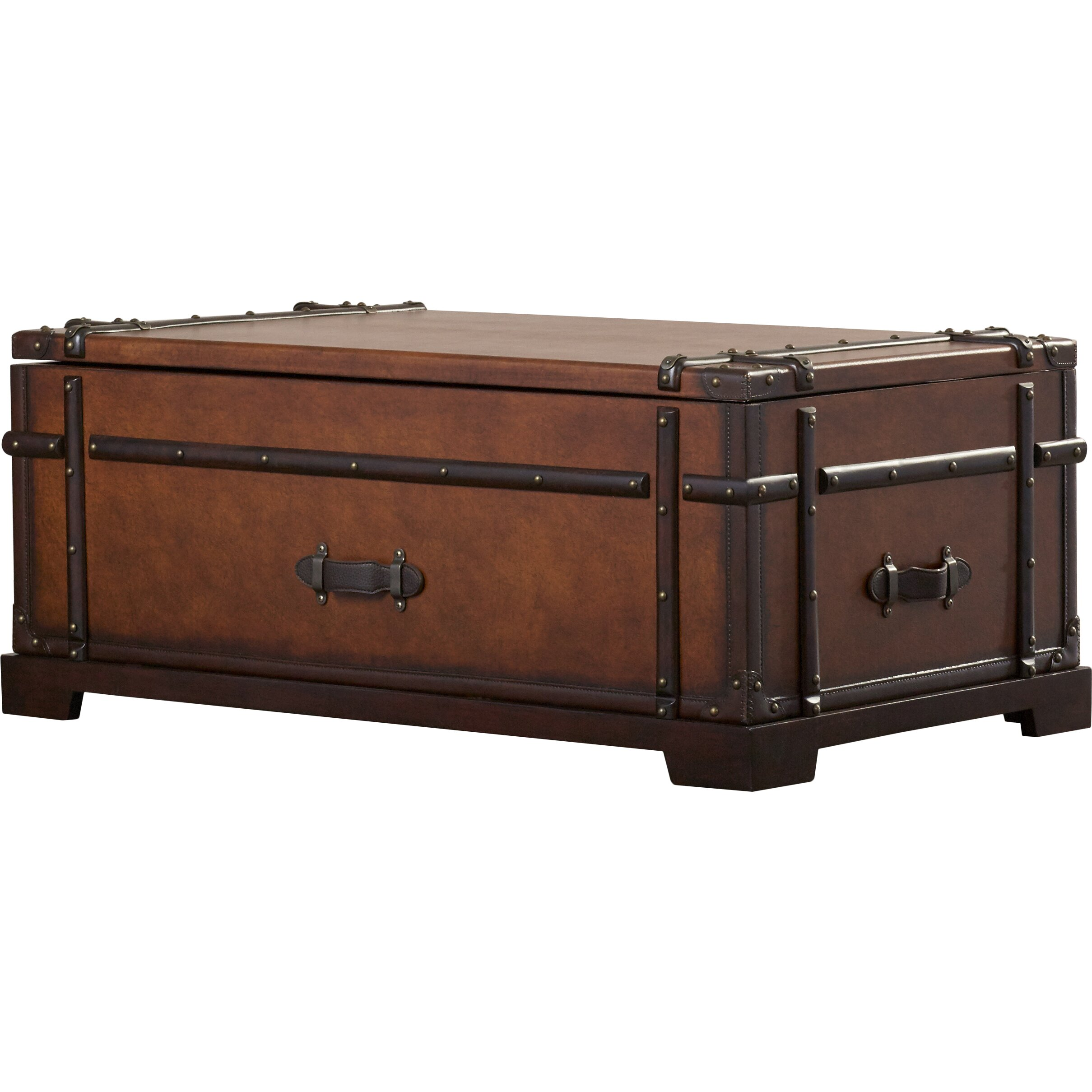 Darby home co delavan steamer coffee table trunk with lift top reviews wayfair Trunks coffee tables