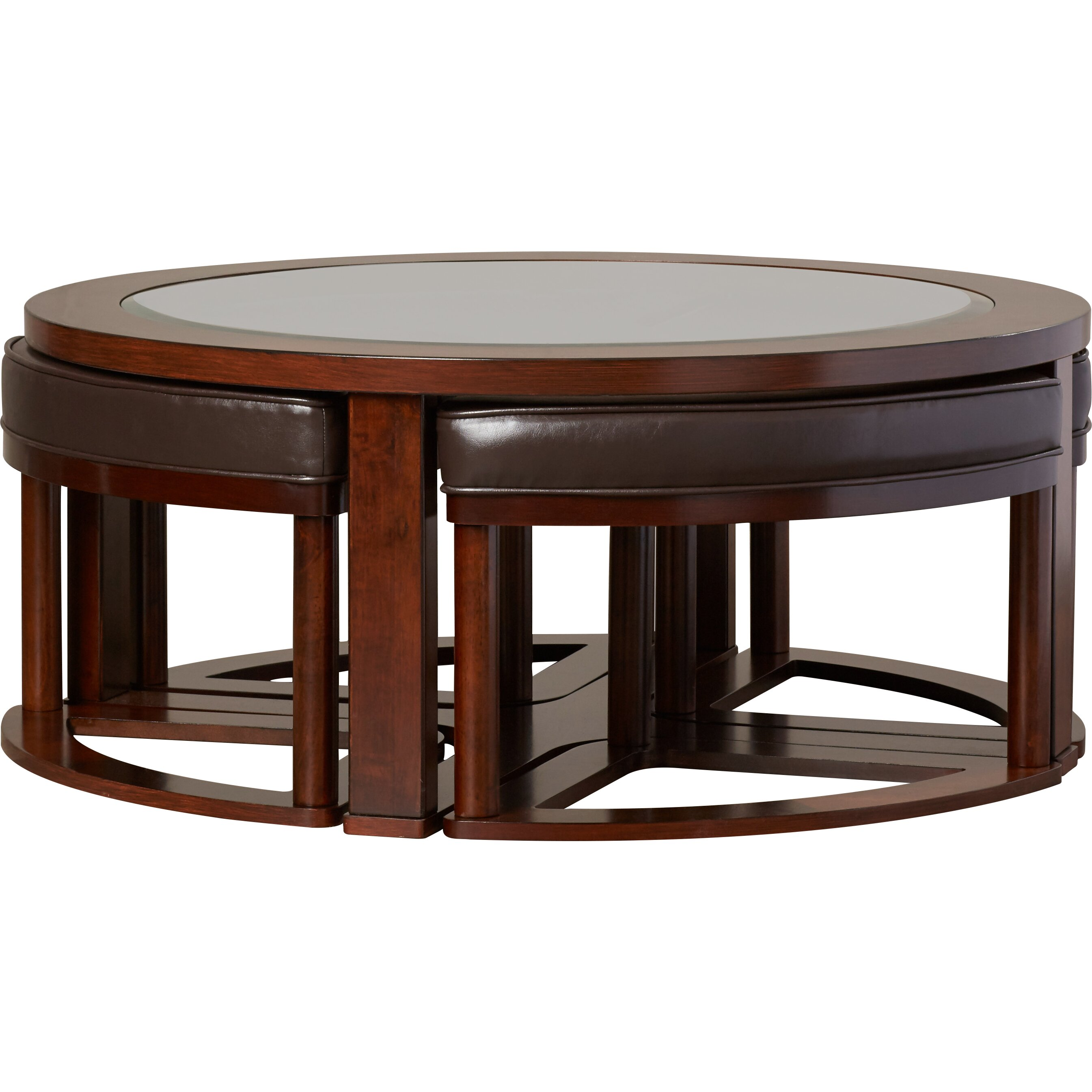 darby home co eastin 5 piece coffee table stool set With 5 piece coffee table set