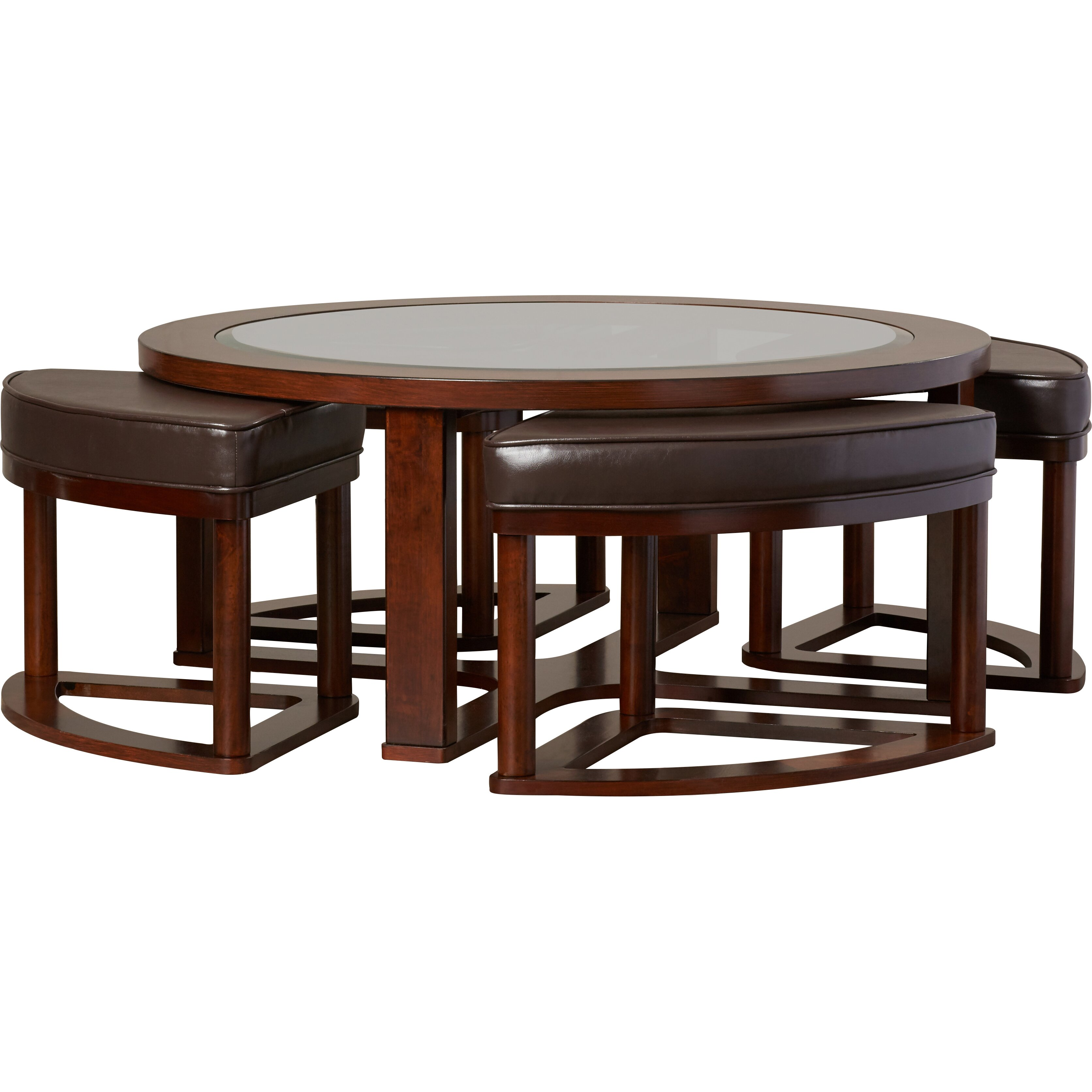 Darby Home Co Eastin 5 Piece Coffee Table Stool Set