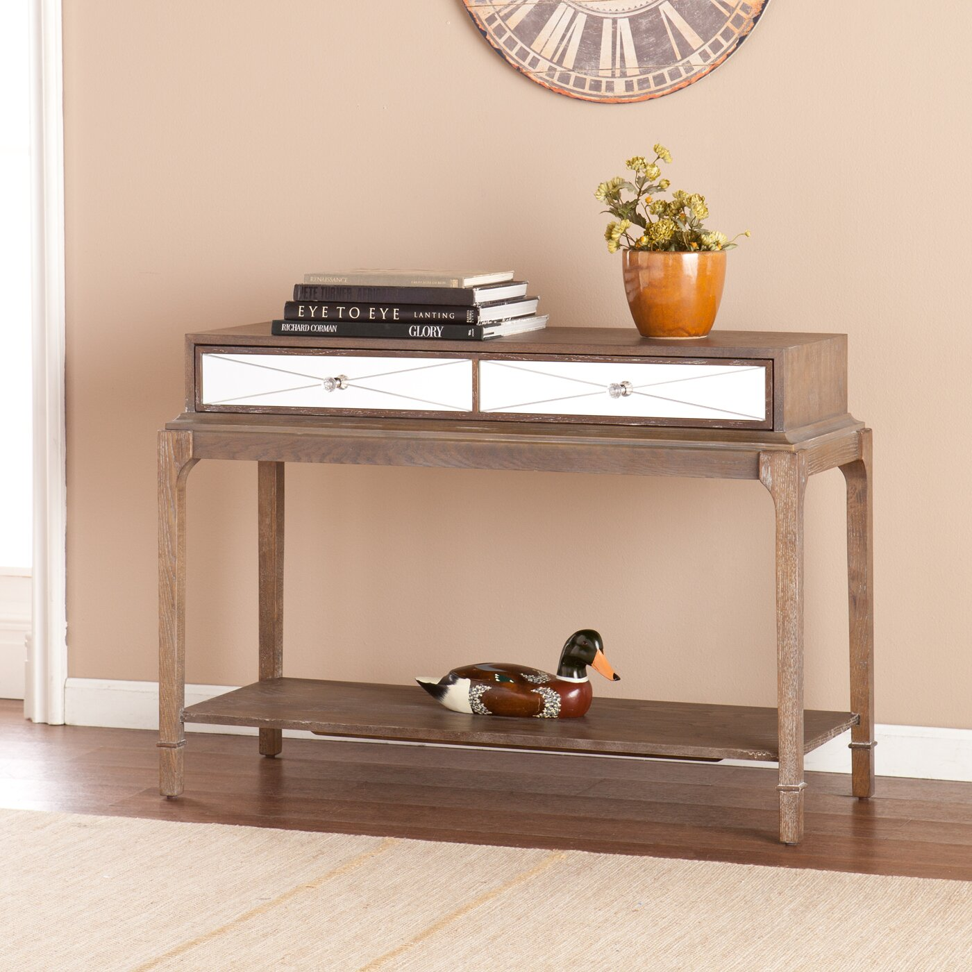 Darby Home Co Arnault Console Table And Mirror Set Wayfair