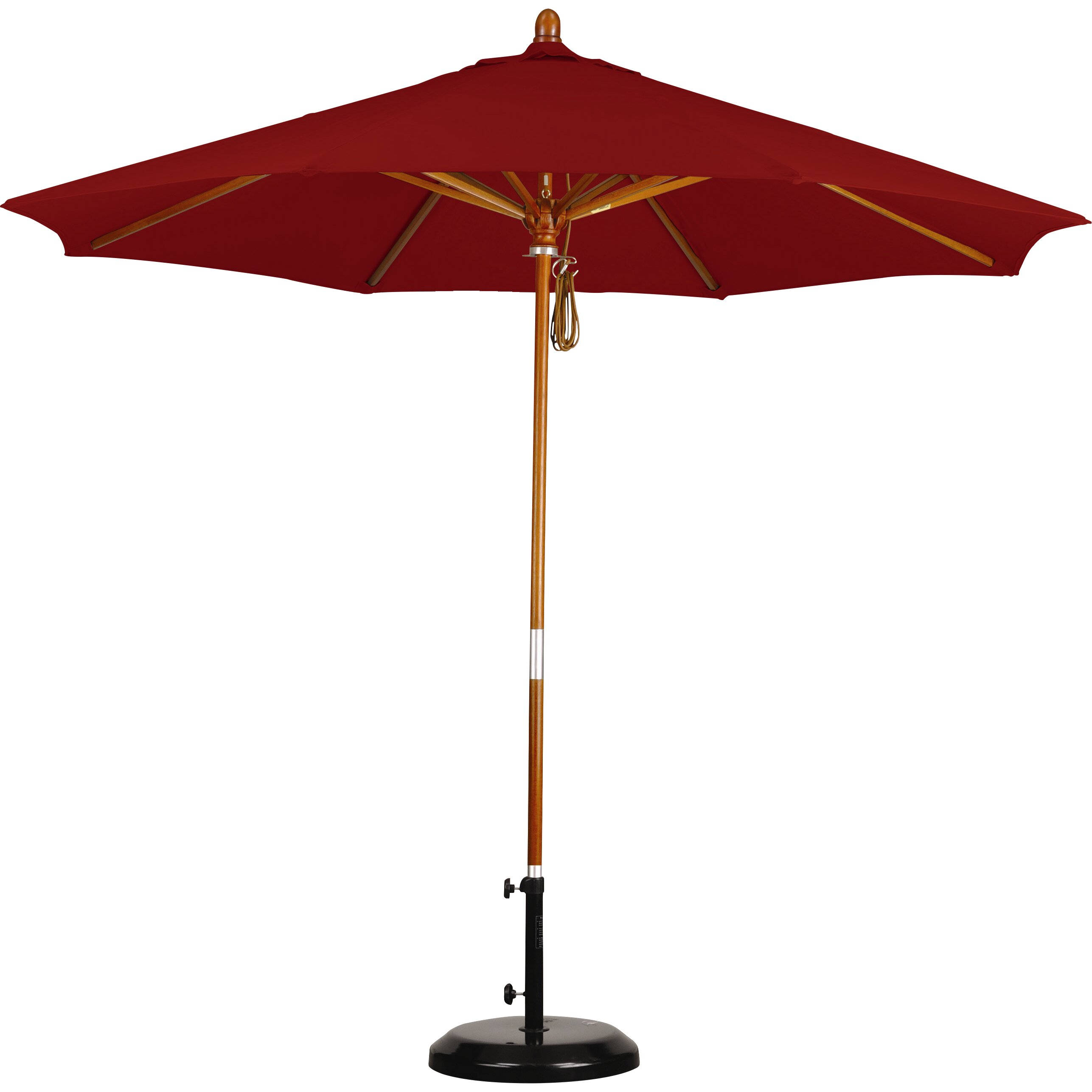 Darby home co fretwell 9 wood market umbrella amp reviews wayfair