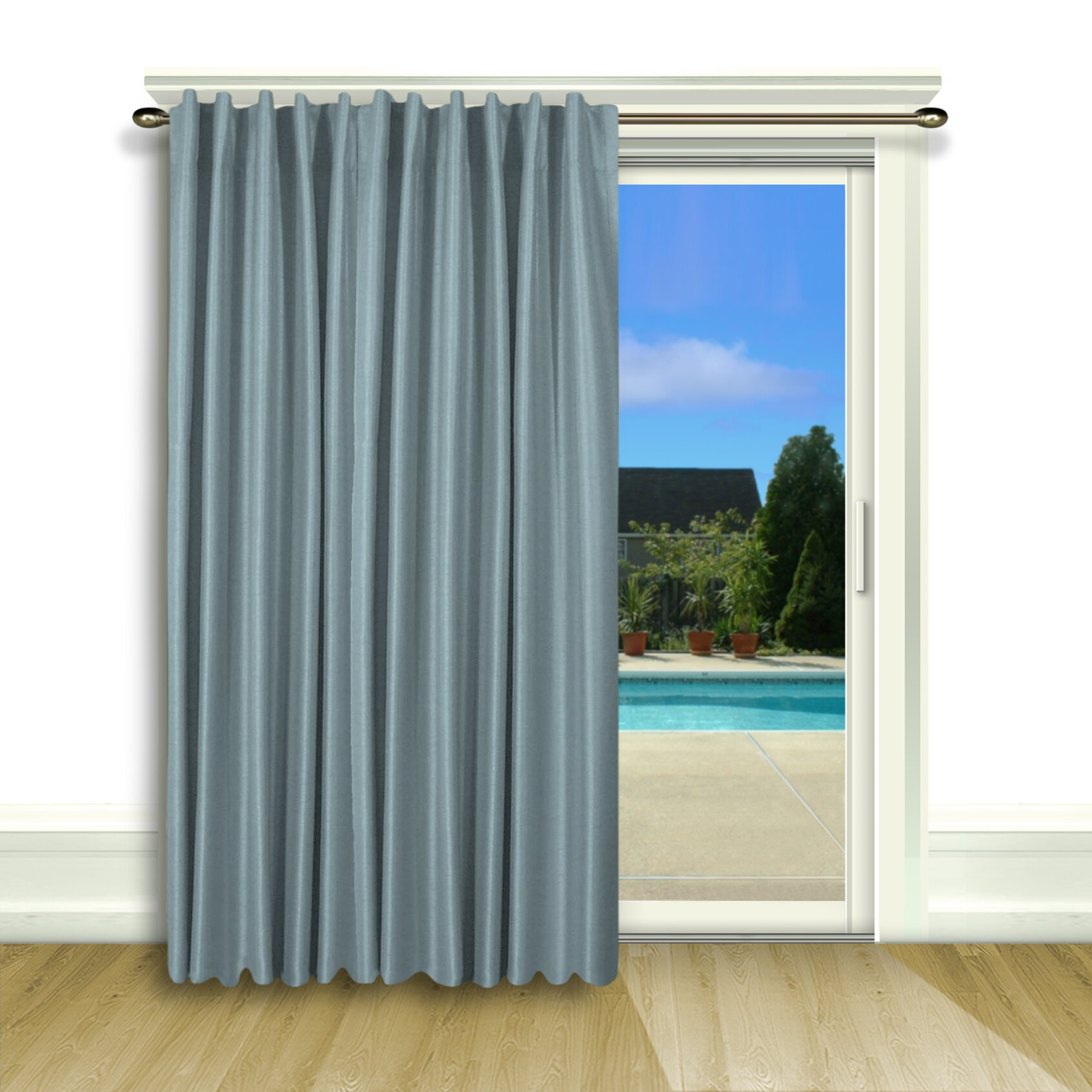 darby home co budde curtain patio blackout thermal single