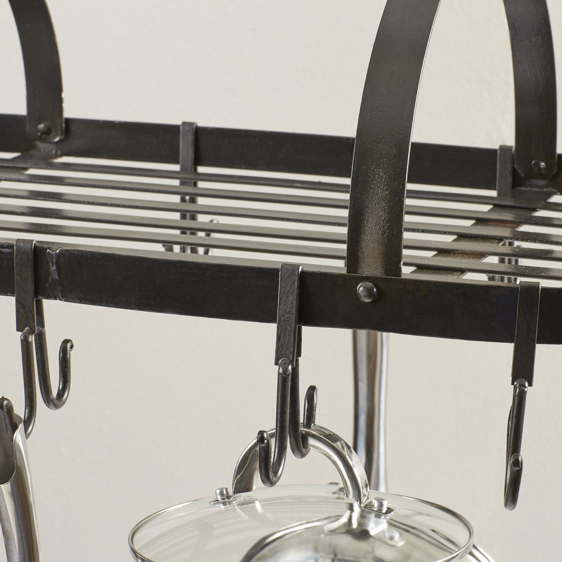 Darby Home Co Kitchen Hanging Pot Rack Reviews