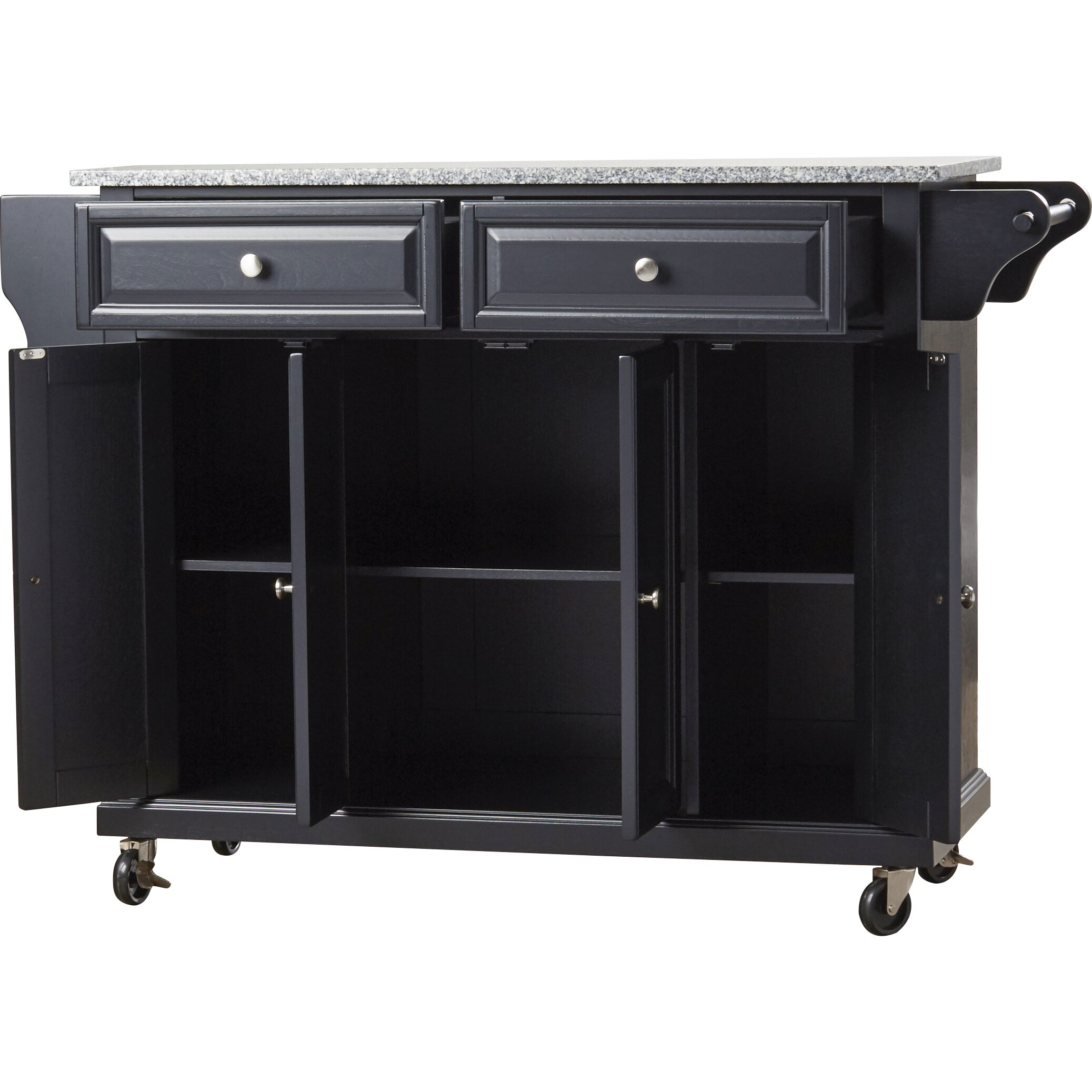 Go Home Black Industrial Kitchen Cart At Lowes Com: Darby Home Co Pottstown Kitchen Cart/Island With Granite
