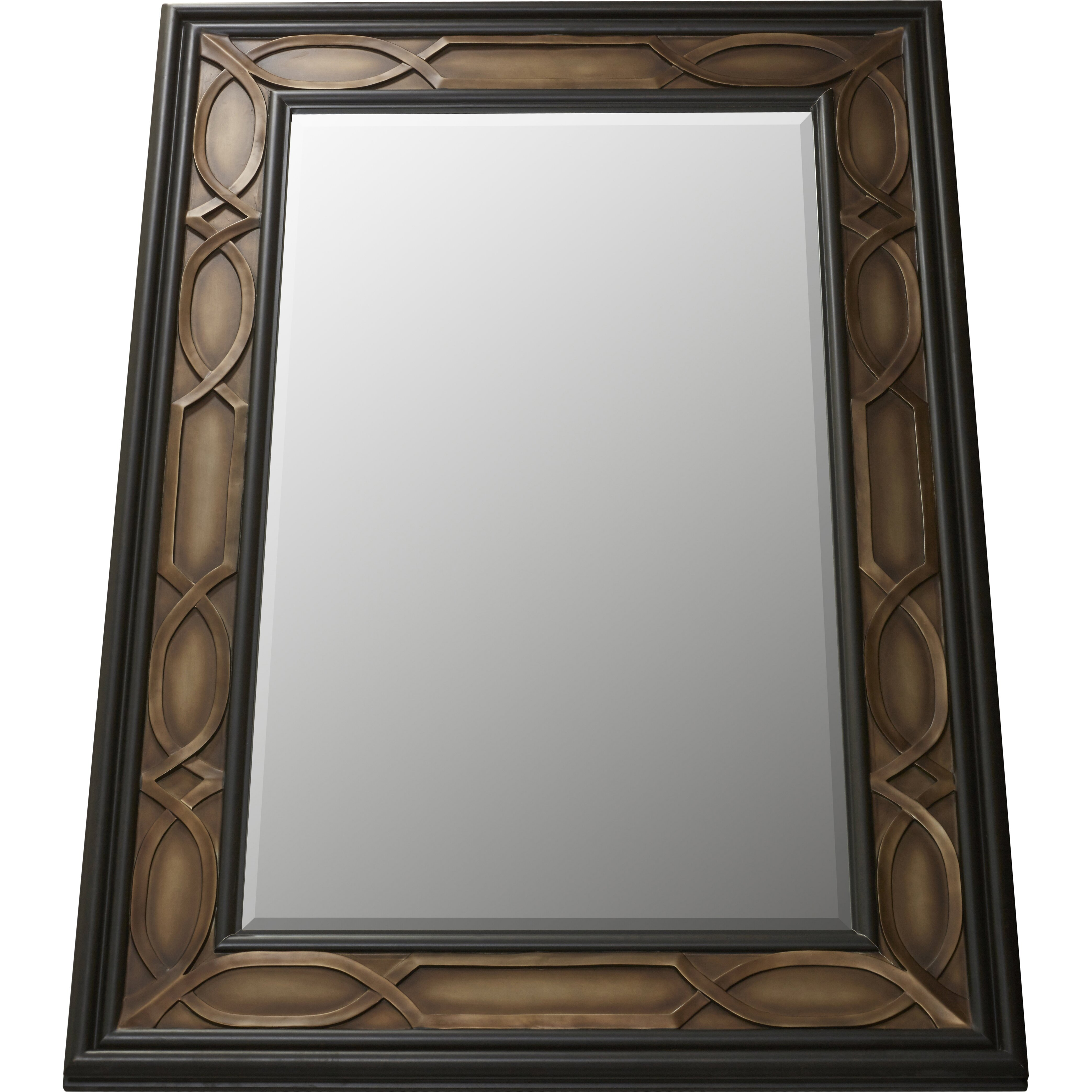 Darby home co london leaning floor mirror reviews wayfair for Glass floor mirror