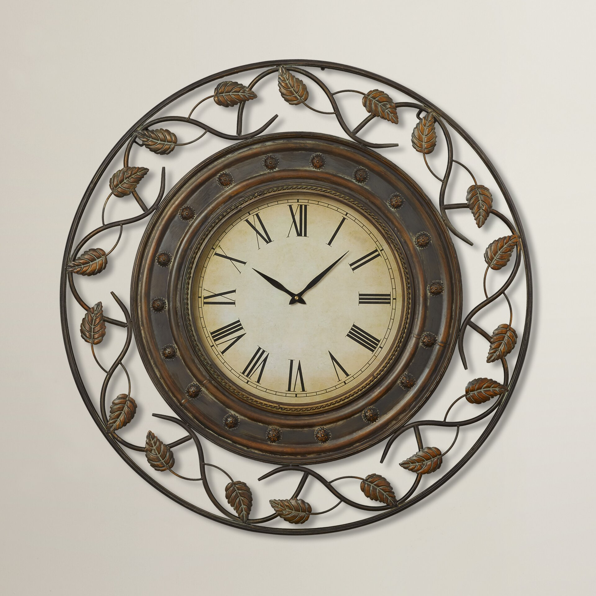 "Darby Home Co Cleffort 36"" Decorative Wall Clock & Reviews. What Size Tv Should I Buy For My Living Room. Corner Tables For Living Room. Leather Sofa Living Room. Green Colour Combination Living Room. Images Of Rustic Living Rooms. Warm Inviting Living Rooms. Country Living Room Designs. Black And Purple Living Room"
