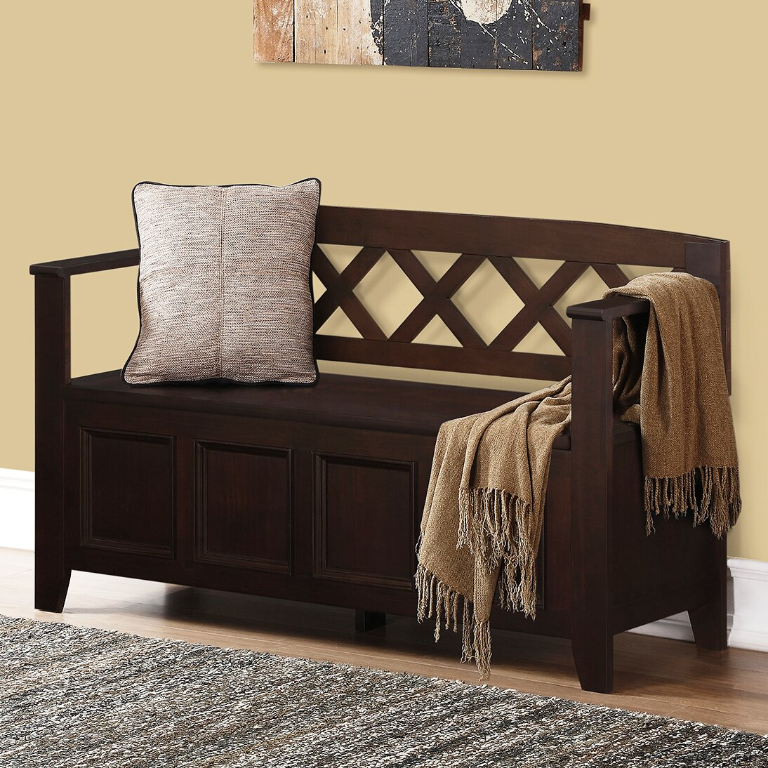 Darby Home Co Otterville Wood Storage Entryway Bench