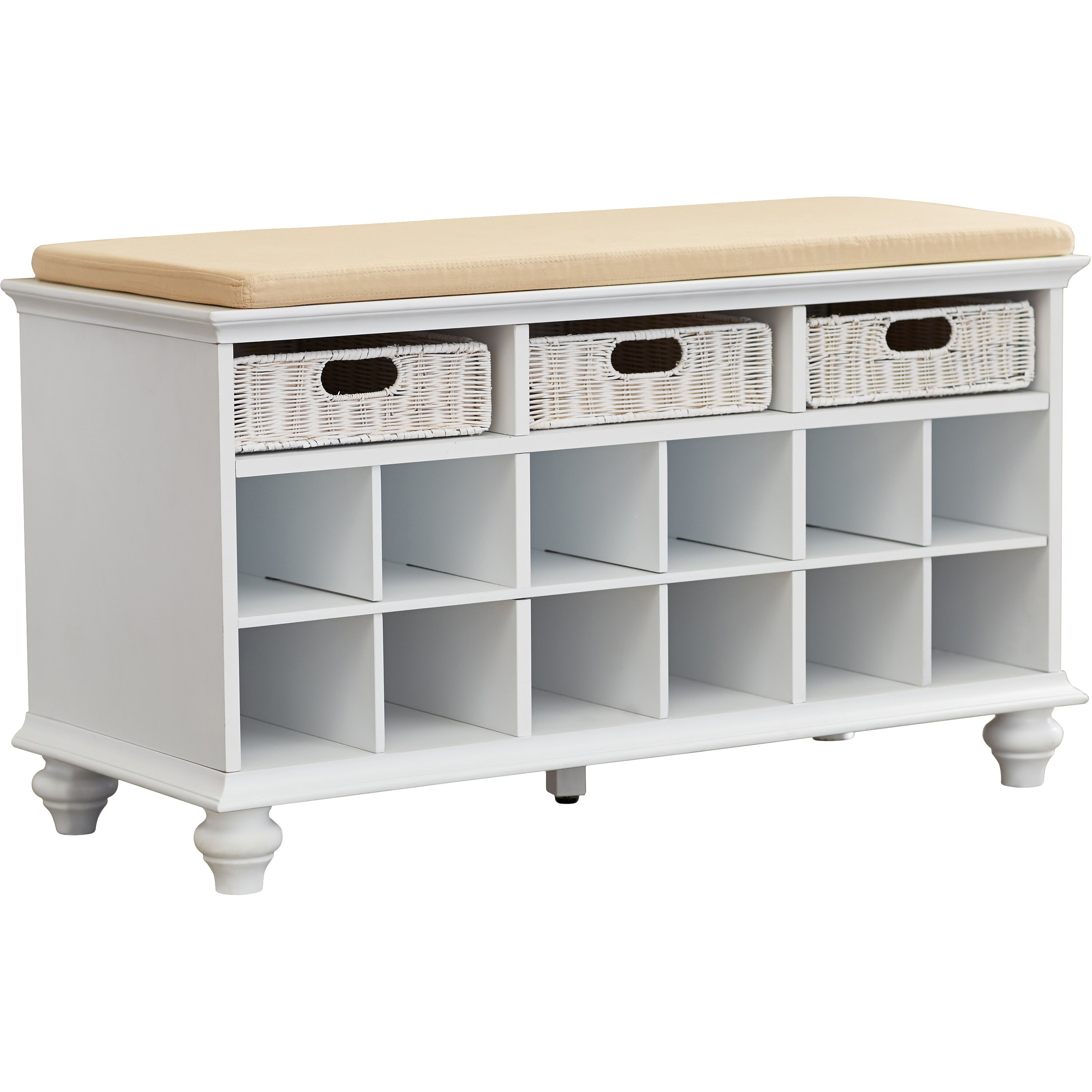 Darby Home Co Shoe Storage Bench u0026