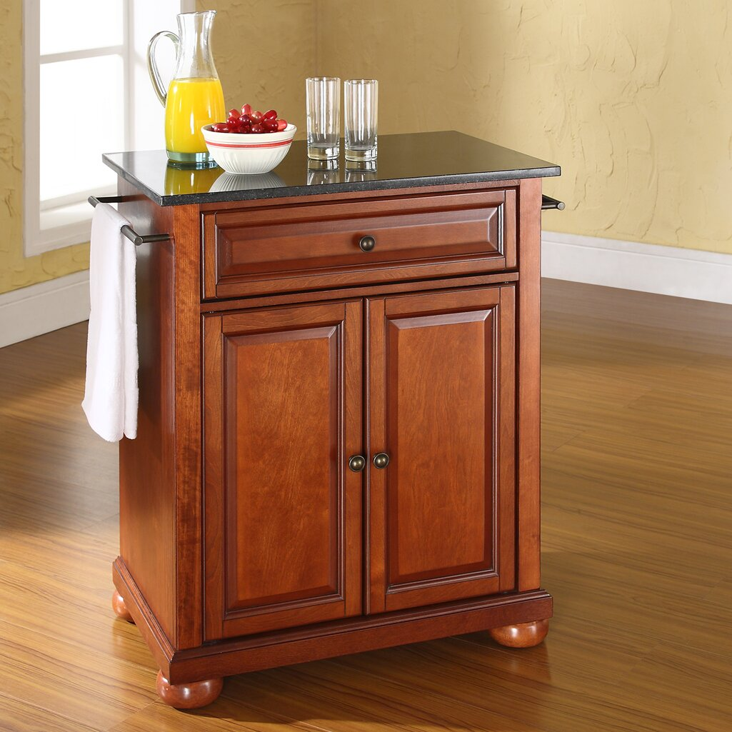 Portable Kitchen: Darby Home Co Pottstown Solid Black Granite Top Portable