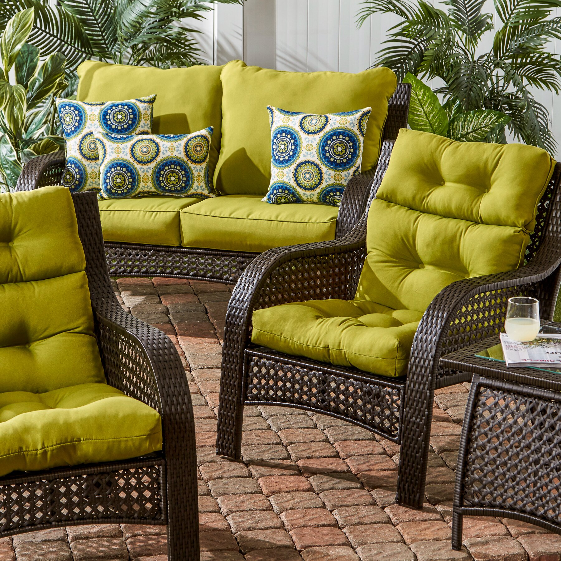 Patio Furniture Cushions: Darby Home Co Outdoor High Back Chair Cushion & Reviews