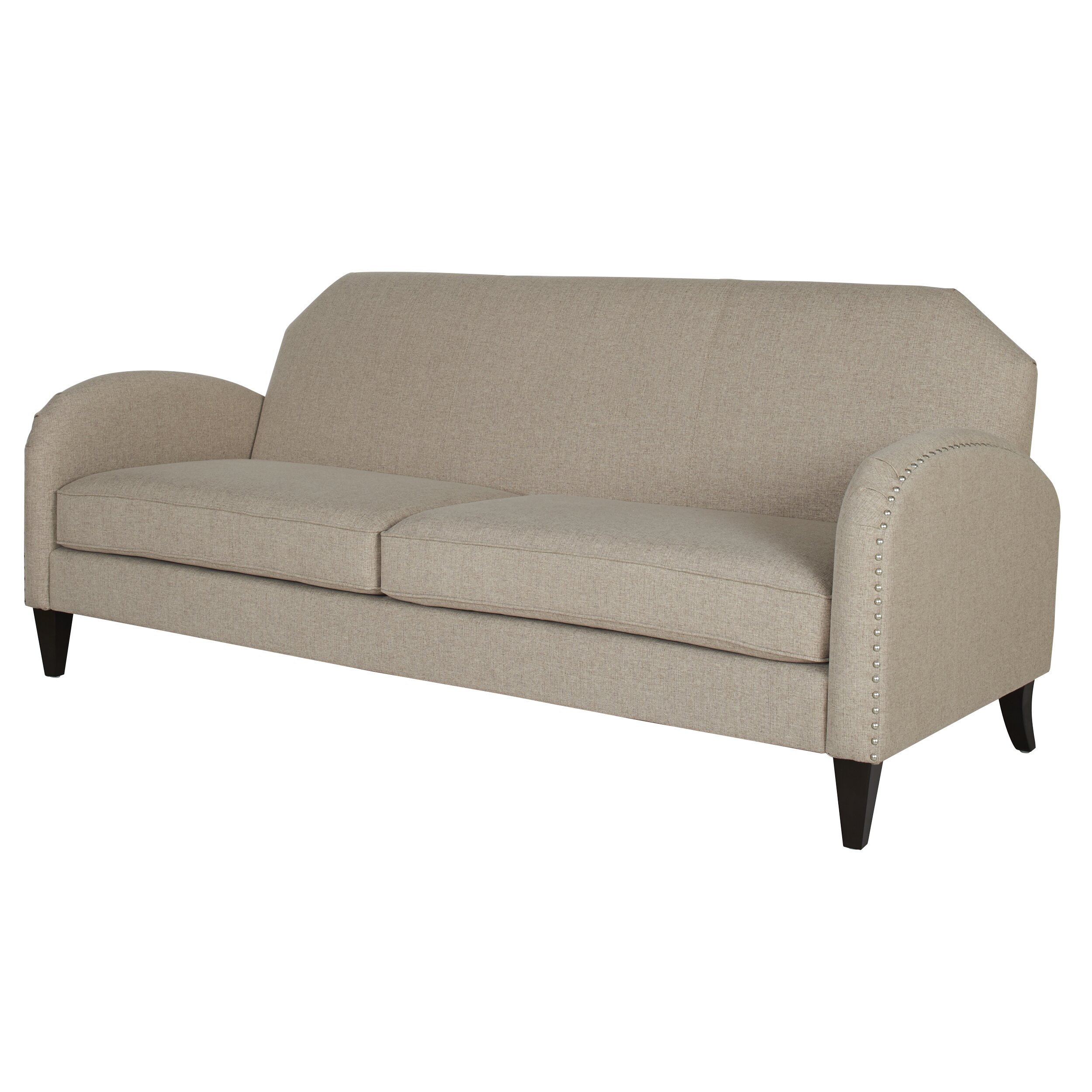 darby home co ella unique curved arm sofa wayfair