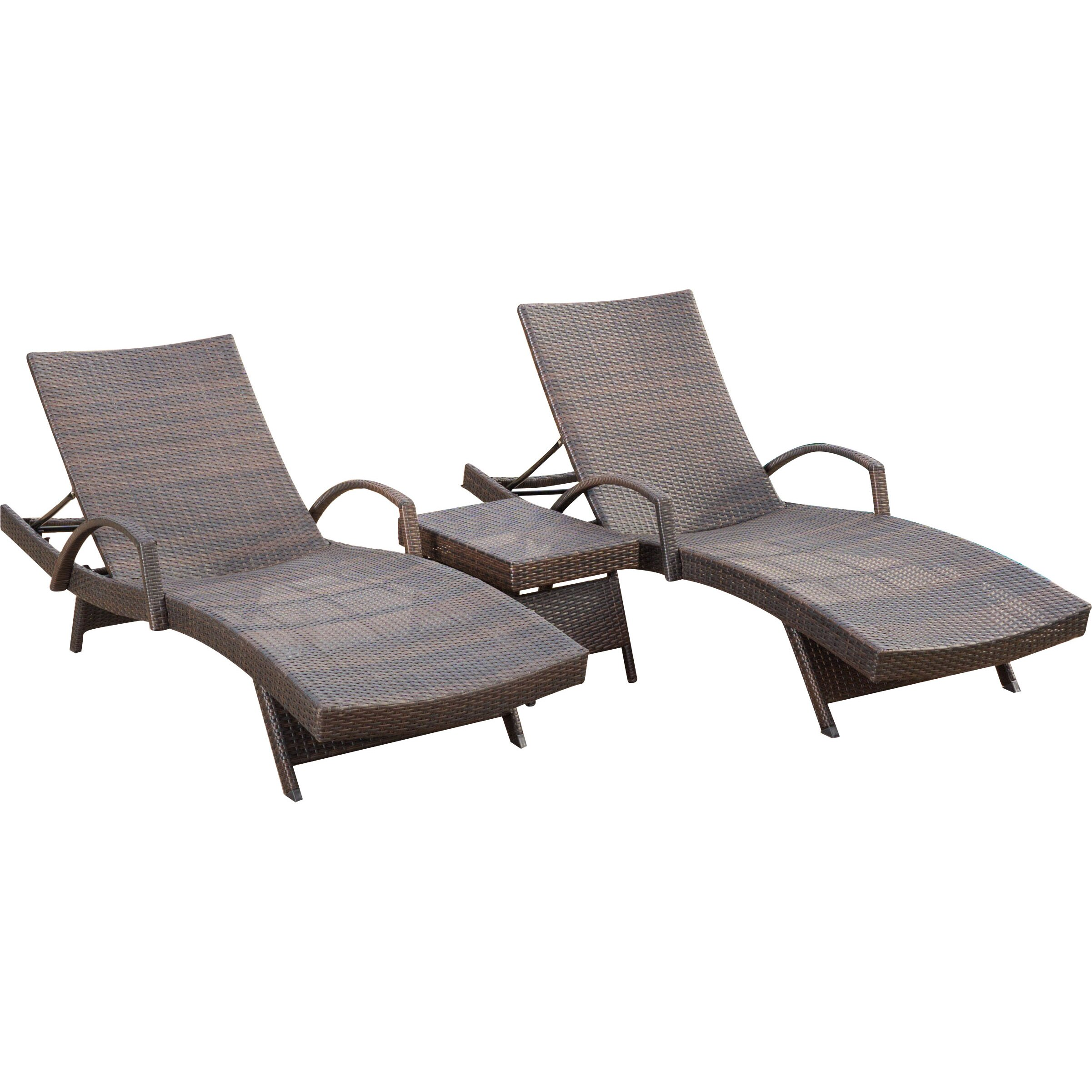 Darby Home Co Peyton 3 Piece Chaise Lounge Set & Reviews