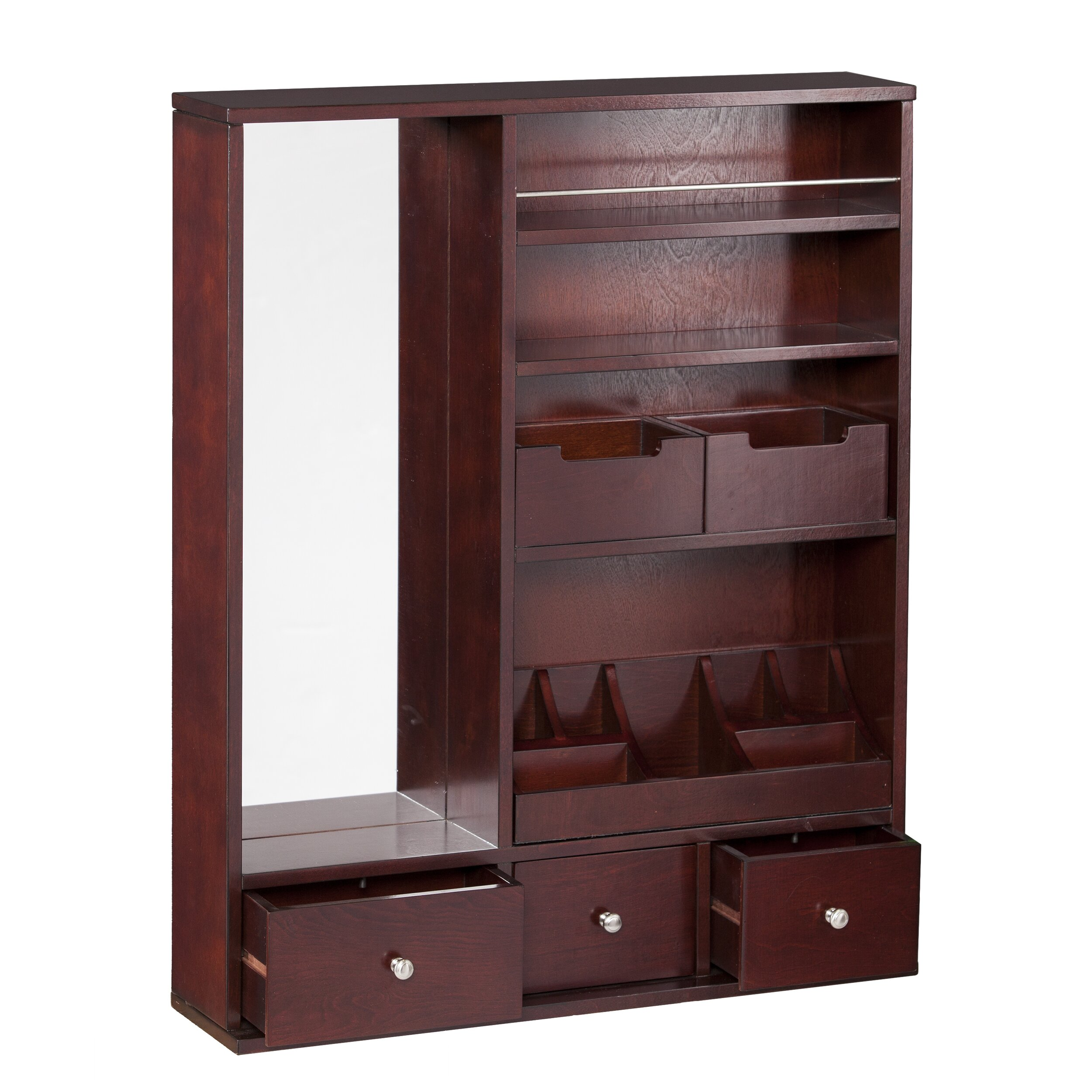 Over The Door Jewelry Armoire: Darby Home Co Apollo Over The Door Jewelry Armoire With