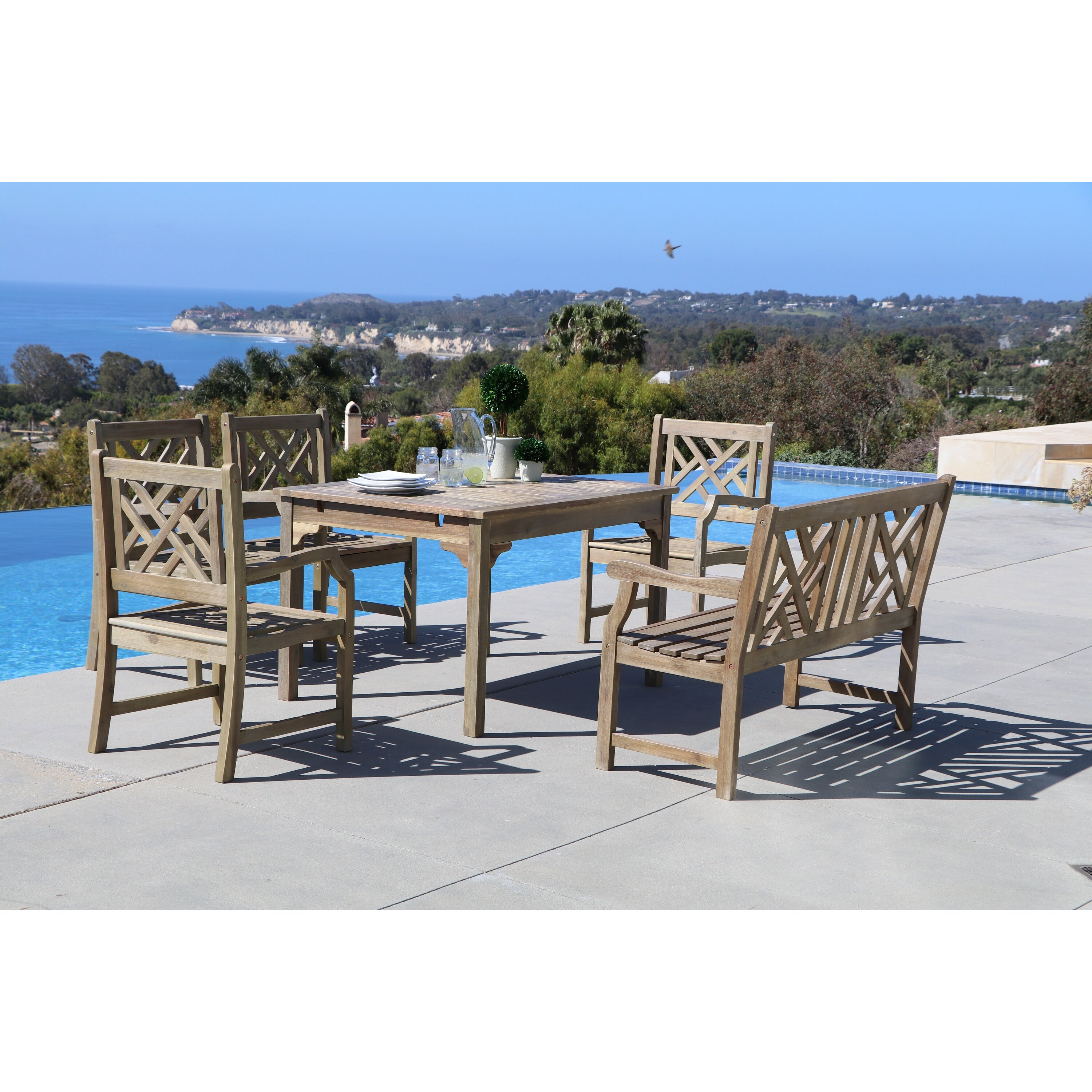 Furniture Six Person Patio Dining Sets Darby Home Co SKU: DRBC3578. Full resolution  portrait, nominally Width 3000 Height 3000 pixels, portrait with #115EBA.