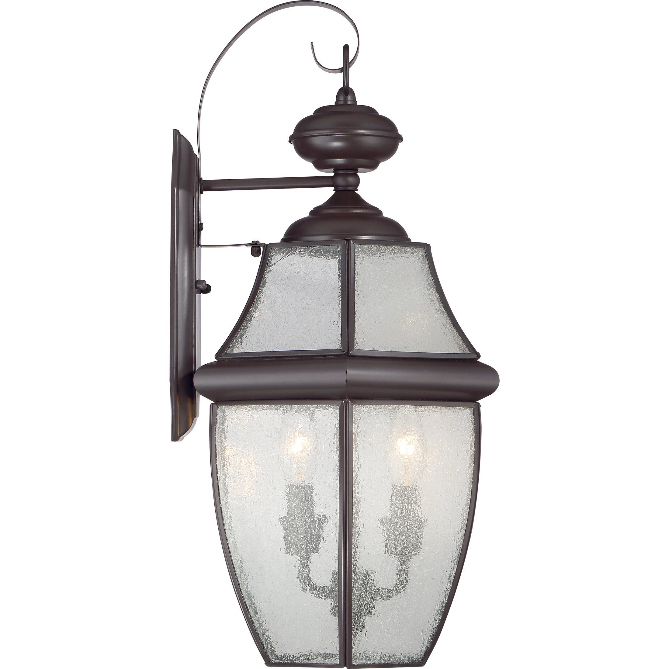 Wall Lantern Replacement Glass : Darby Home Co Saddler 2 Light Outdoor Wall Lantern & Reviews Wayfair