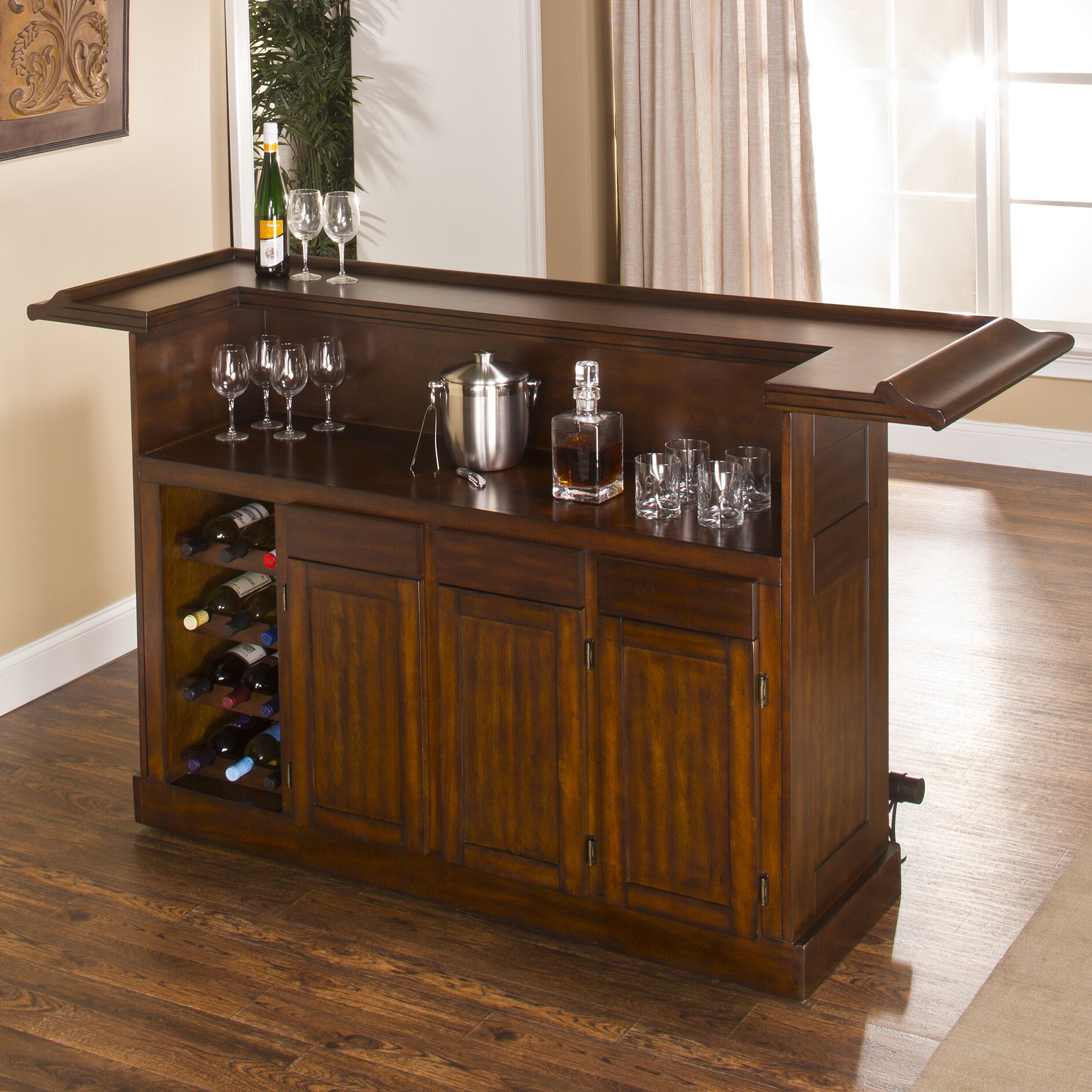 Darby Home Co Danton Bar With Wine Storage Reviews Wayfair