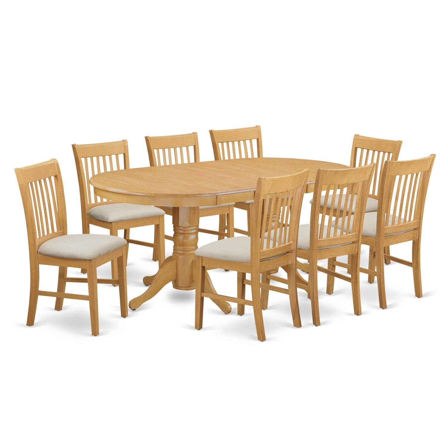 Darby home co rockdale 9 piece dining set wayfair for Dining room furniture 9 piece