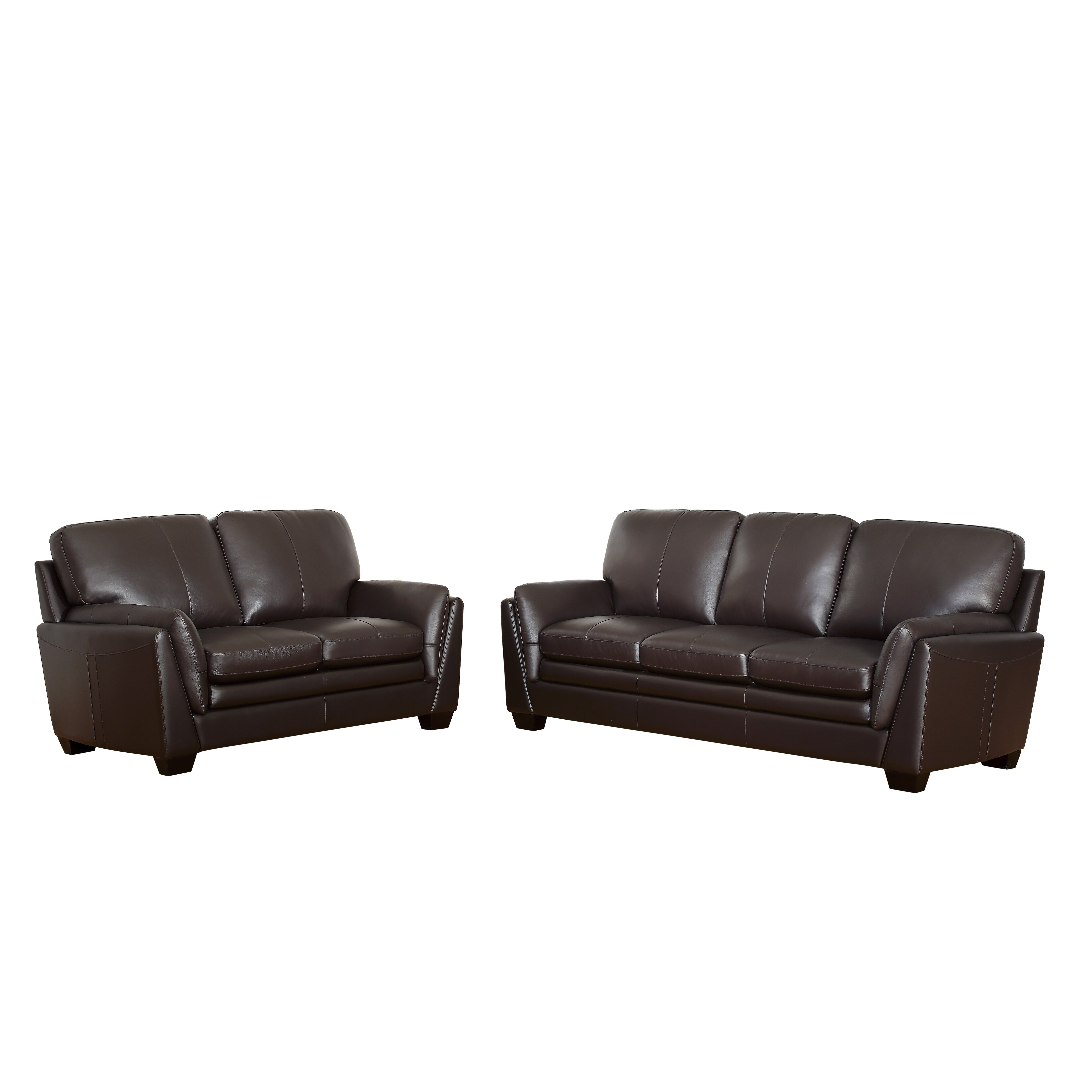Darby Home Co Whitstran Top Grain Leather Sofa And Loveseat Set Wayfair
