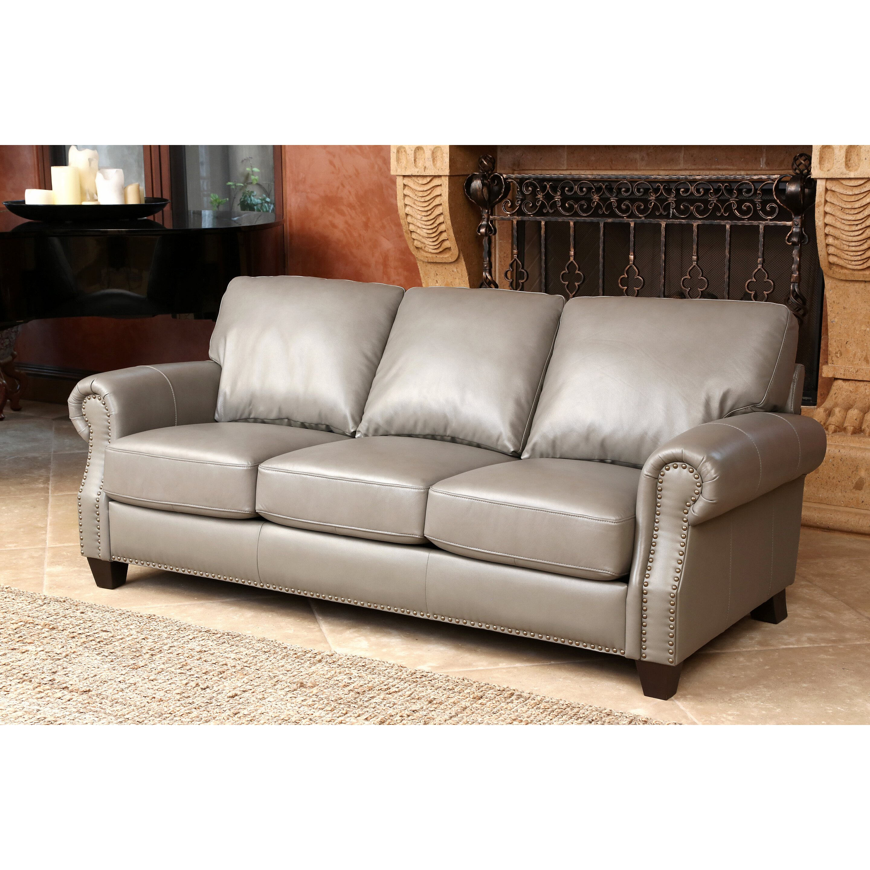 Darby Home Co Cairnbrook Leather Sofa And Loveseat Set