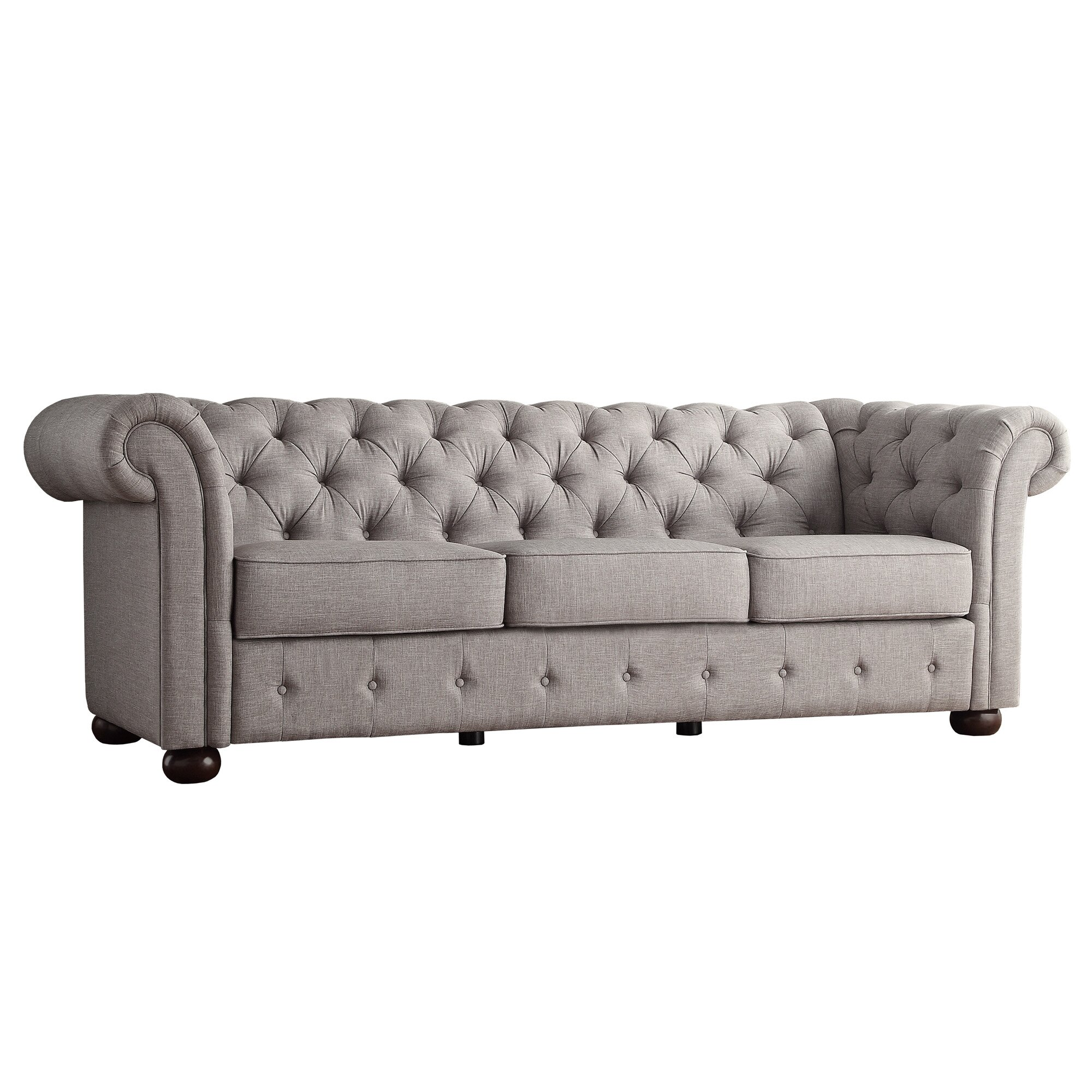 Darby home co conners tufted sofa reviews wayfair for Tufted couches for sale