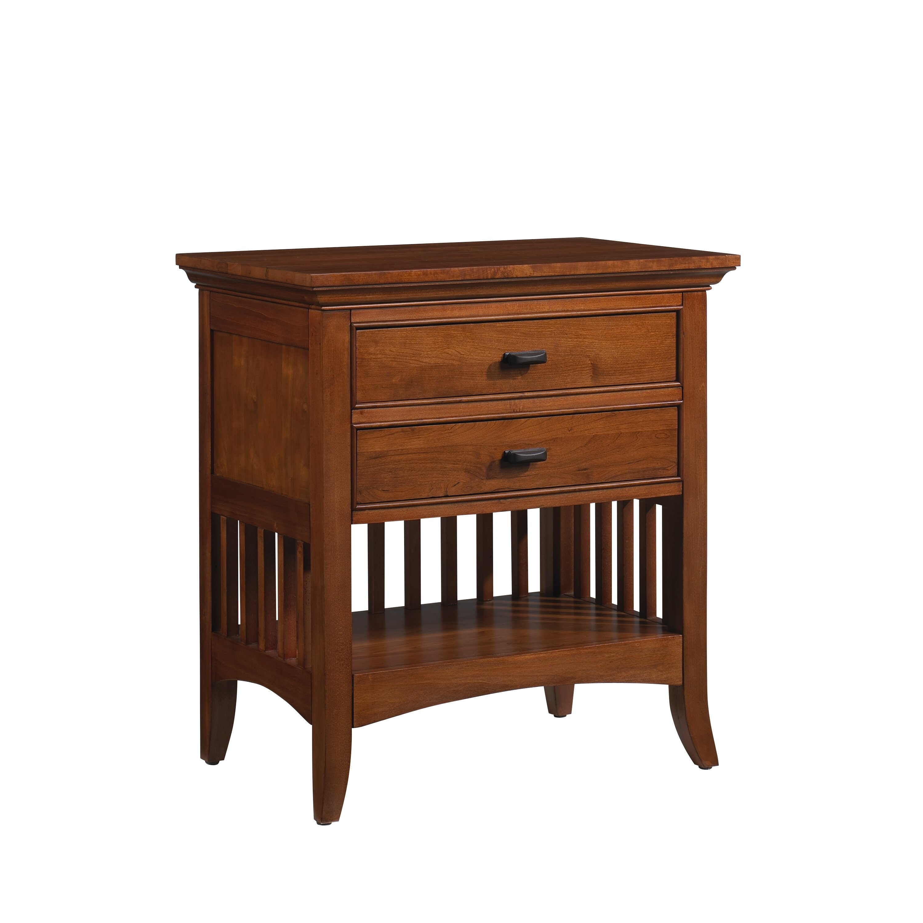 Darby Home Co Carolyn 2 Drawer Nightstand Reviews