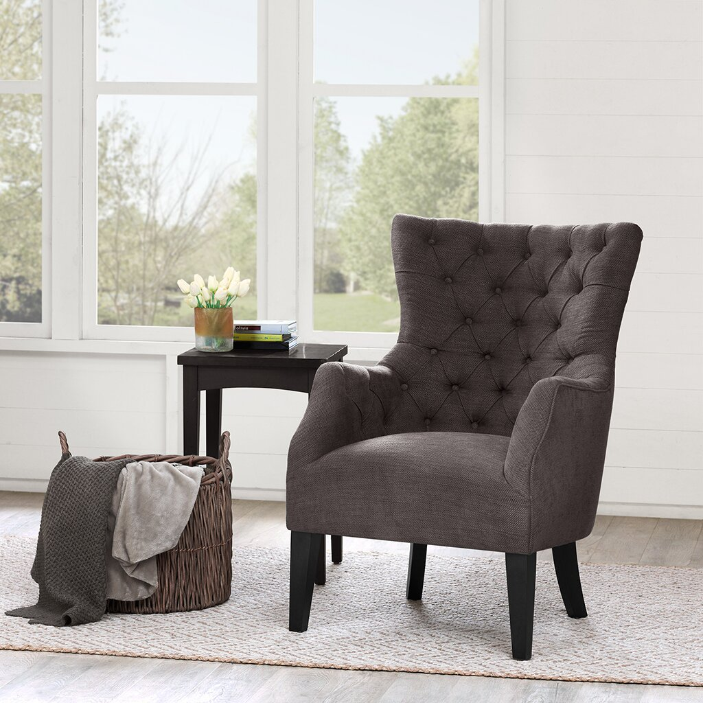 Darby Home Co Steelton Button Tufted Wing Back Arm Chair ...