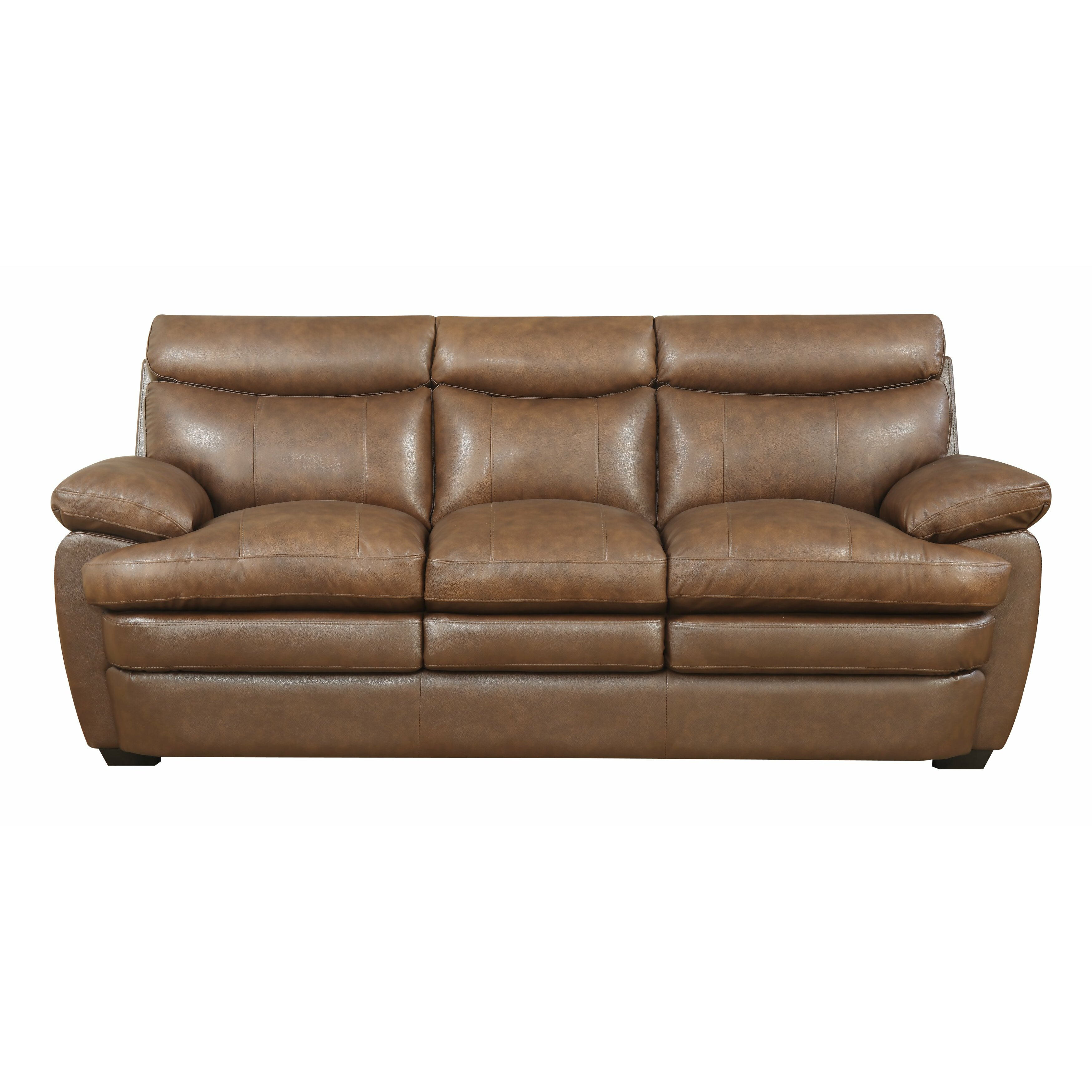 Darby Home Co Millwood Leather Sofa Reviews Wayfair