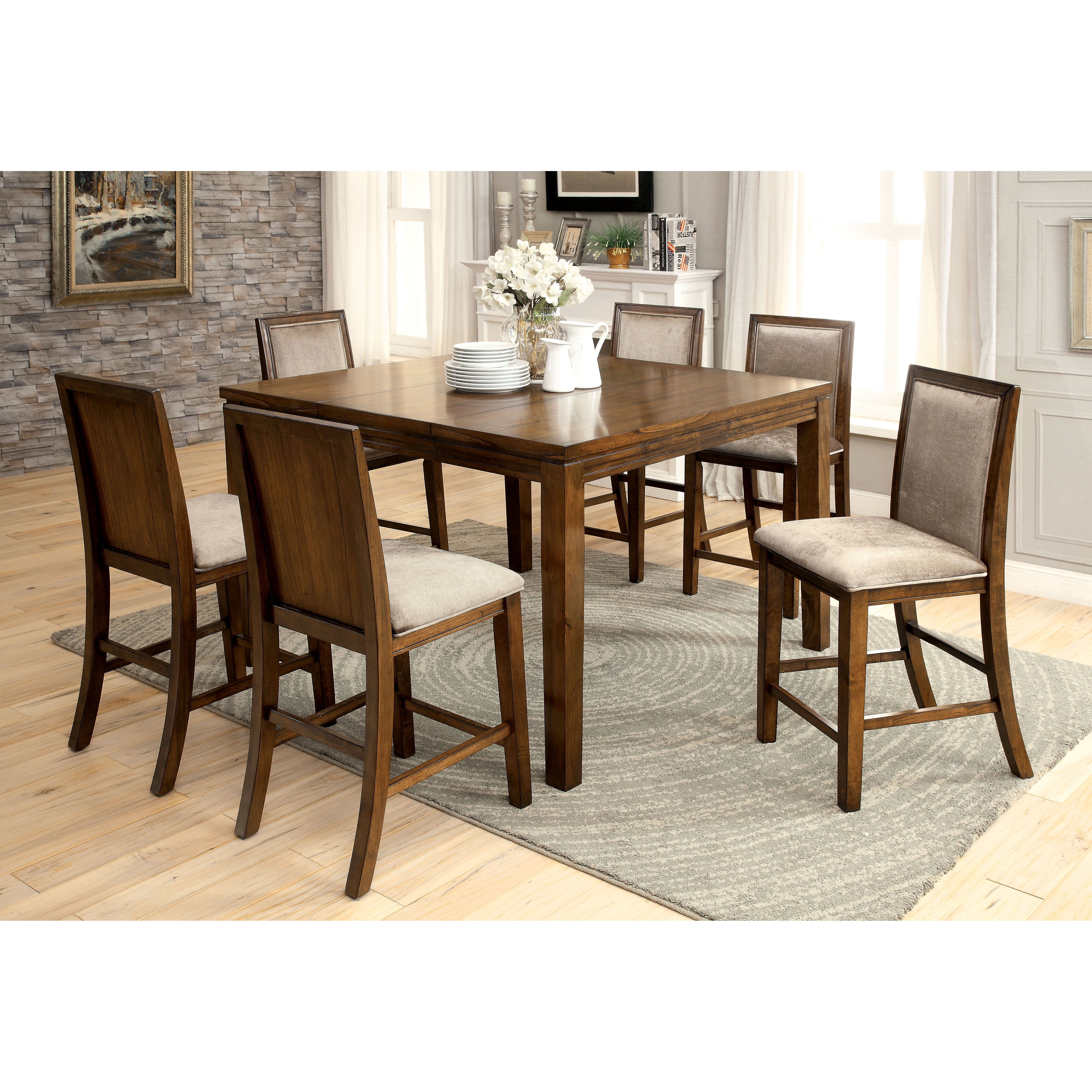 Darby home co audubon counter height extendable dining for Counter height extendable dining table