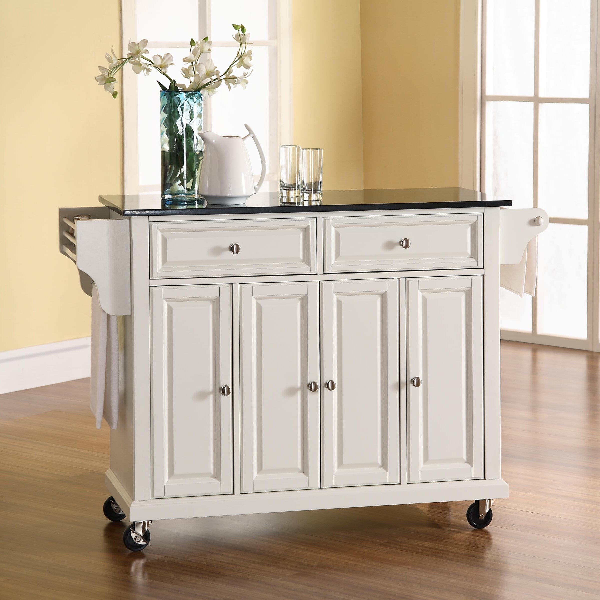 Kitchen Island With Granite Top: Darby Home Co Pottstown Kitchen Island With Granite Top
