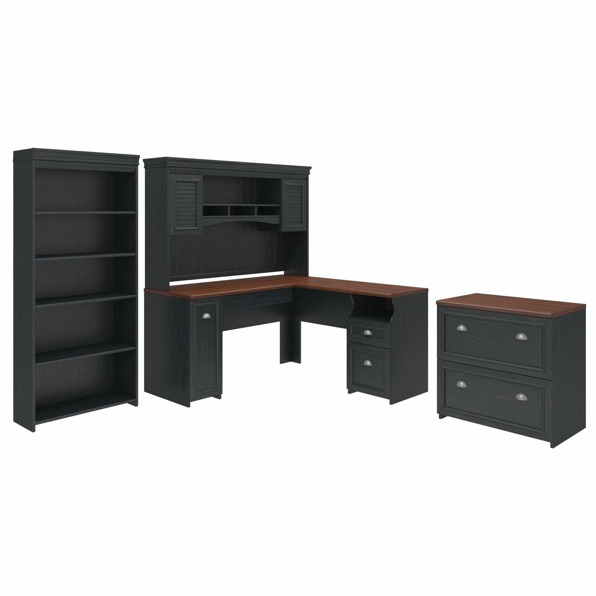 Darby Home Co Allentown Desk With Hutch Bookcase And