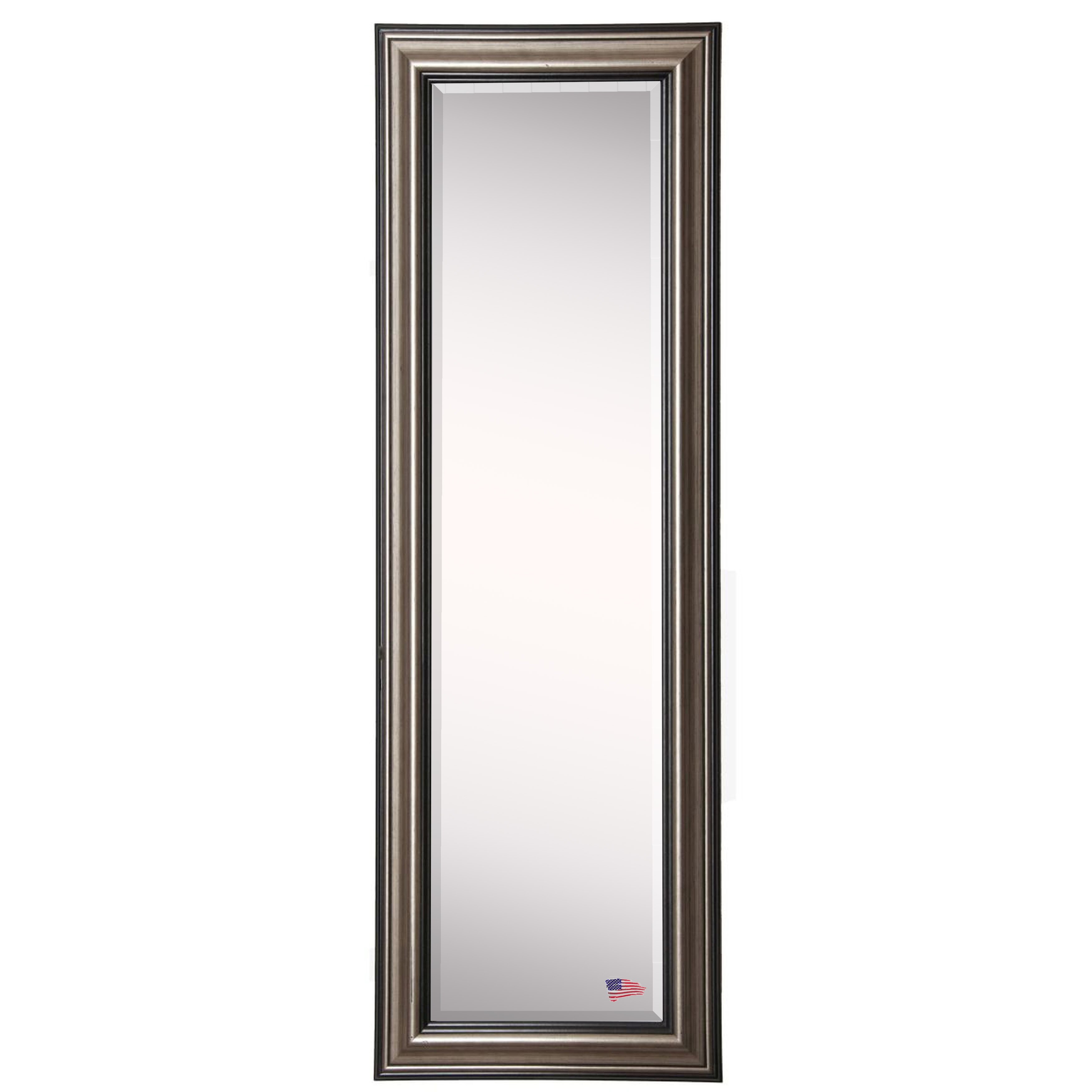 Darby home co antique silver full length beveled body for Full length glass mirror