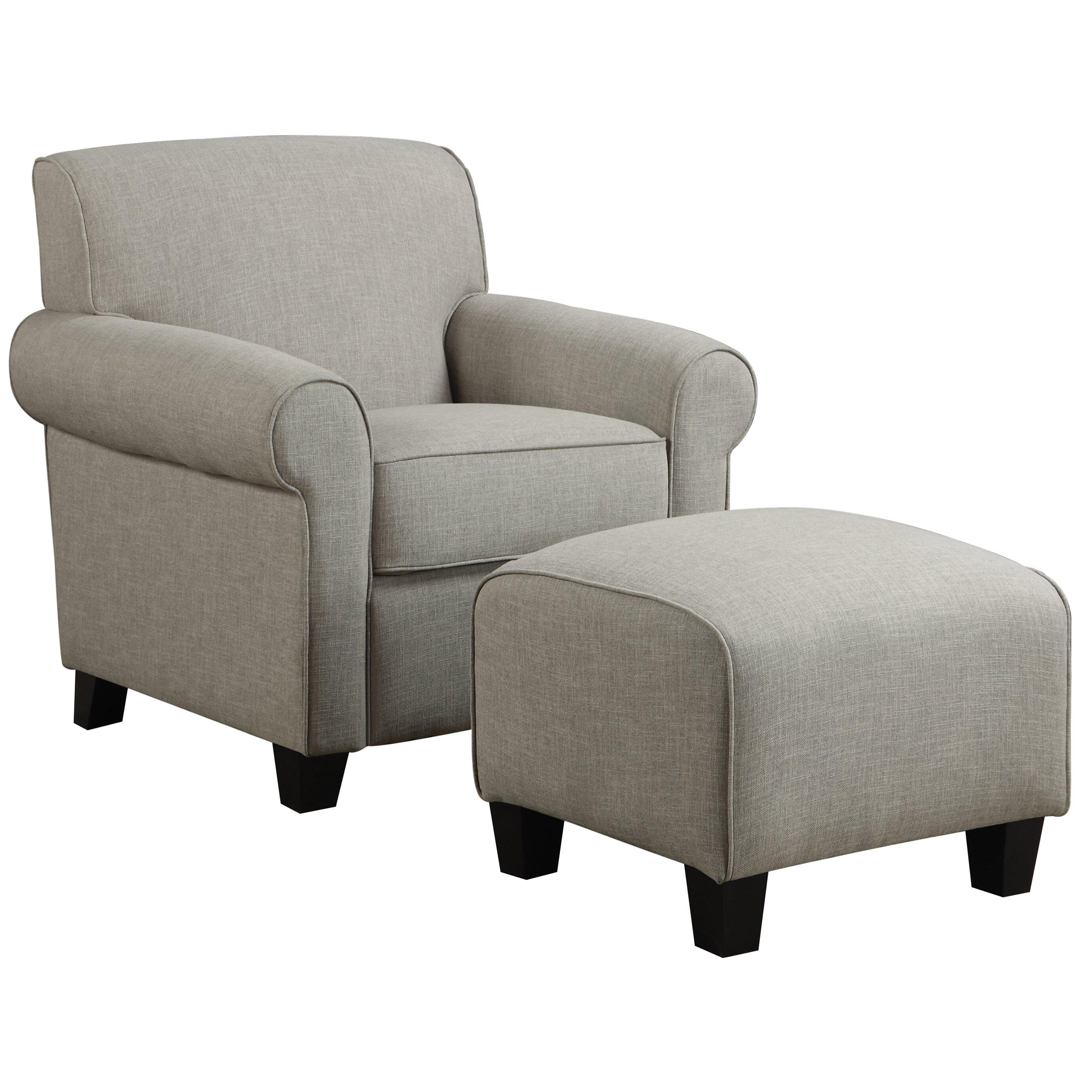 Alcott Hill Oldbury Arm Chair And Ottoman Amp Reviews Wayfair