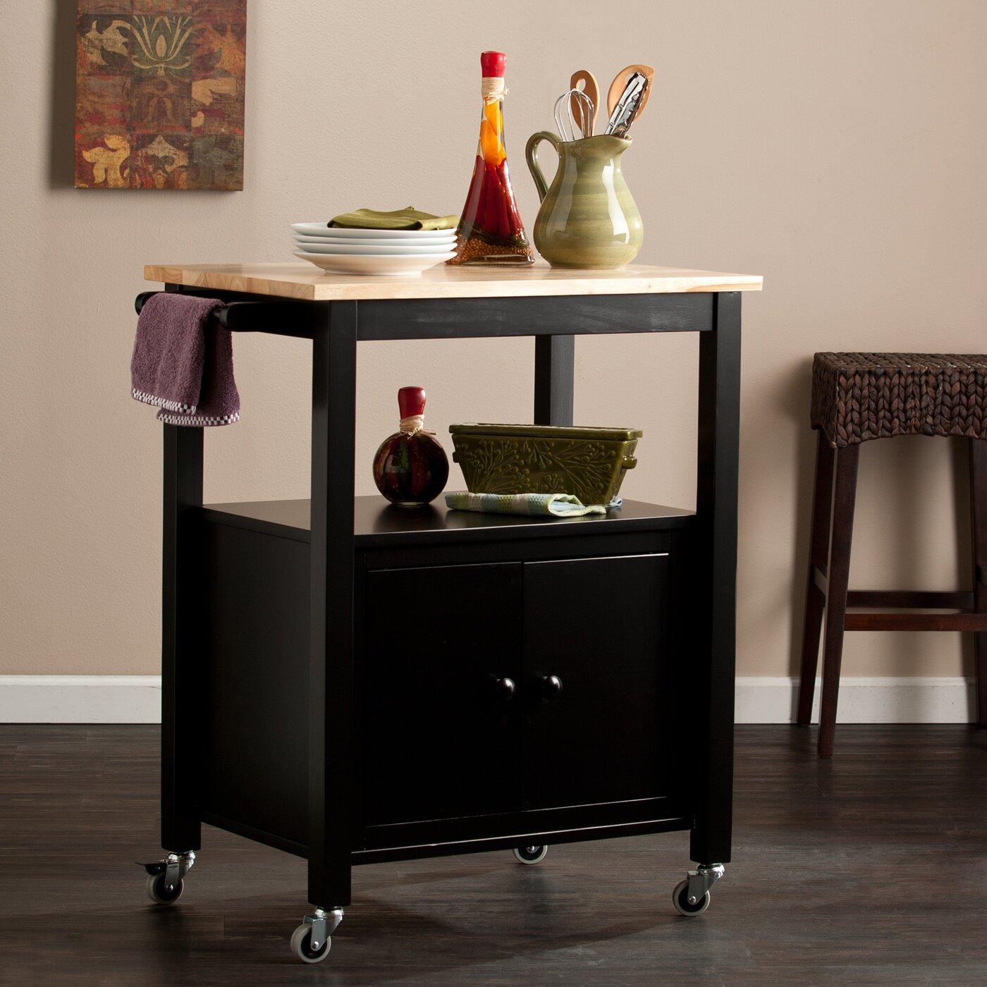 alcott hill tiltonsville kitchen cart with butcher block. Black Bedroom Furniture Sets. Home Design Ideas