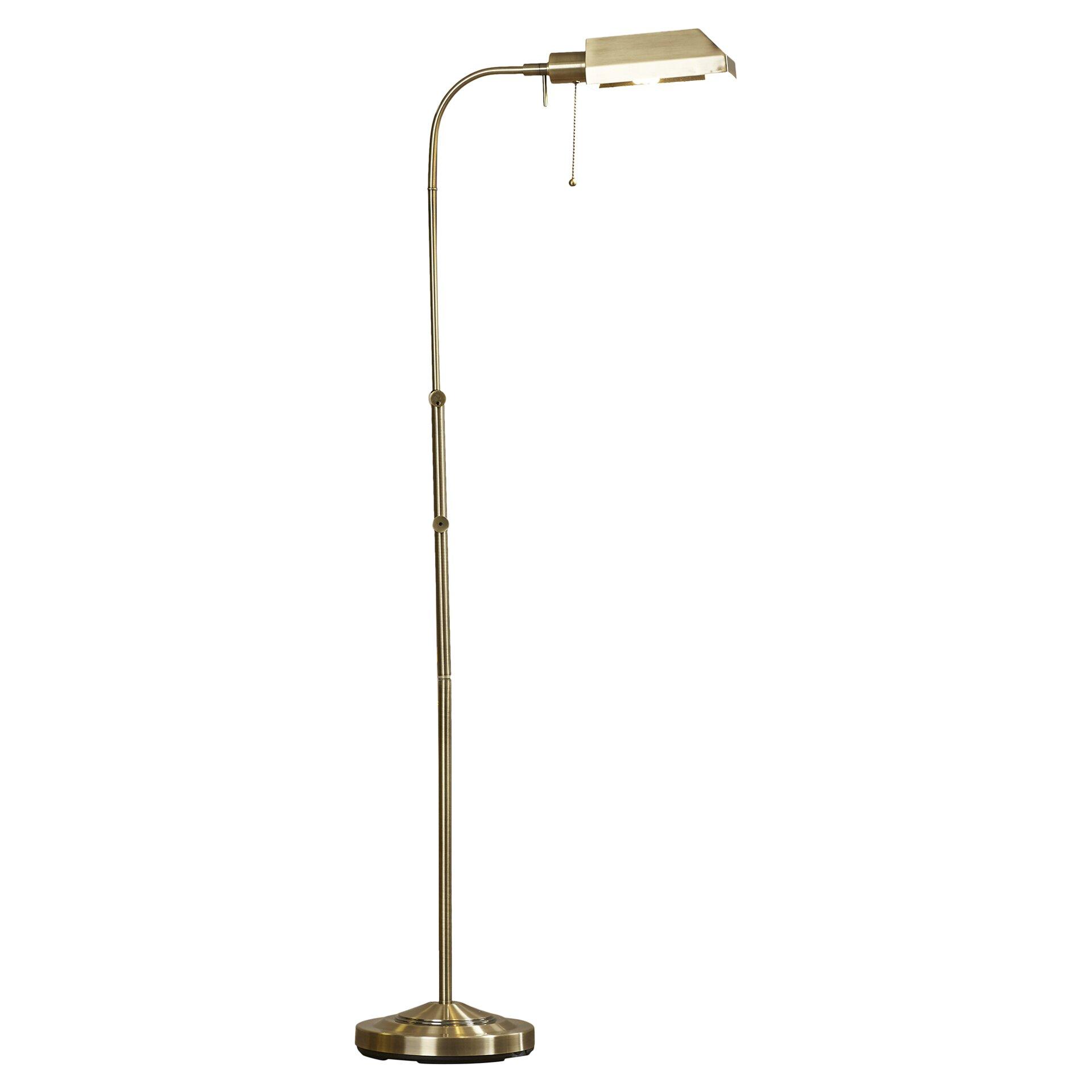 Alcott hill sterling utility 59quot led task floor lamp for B spline led floor lamp
