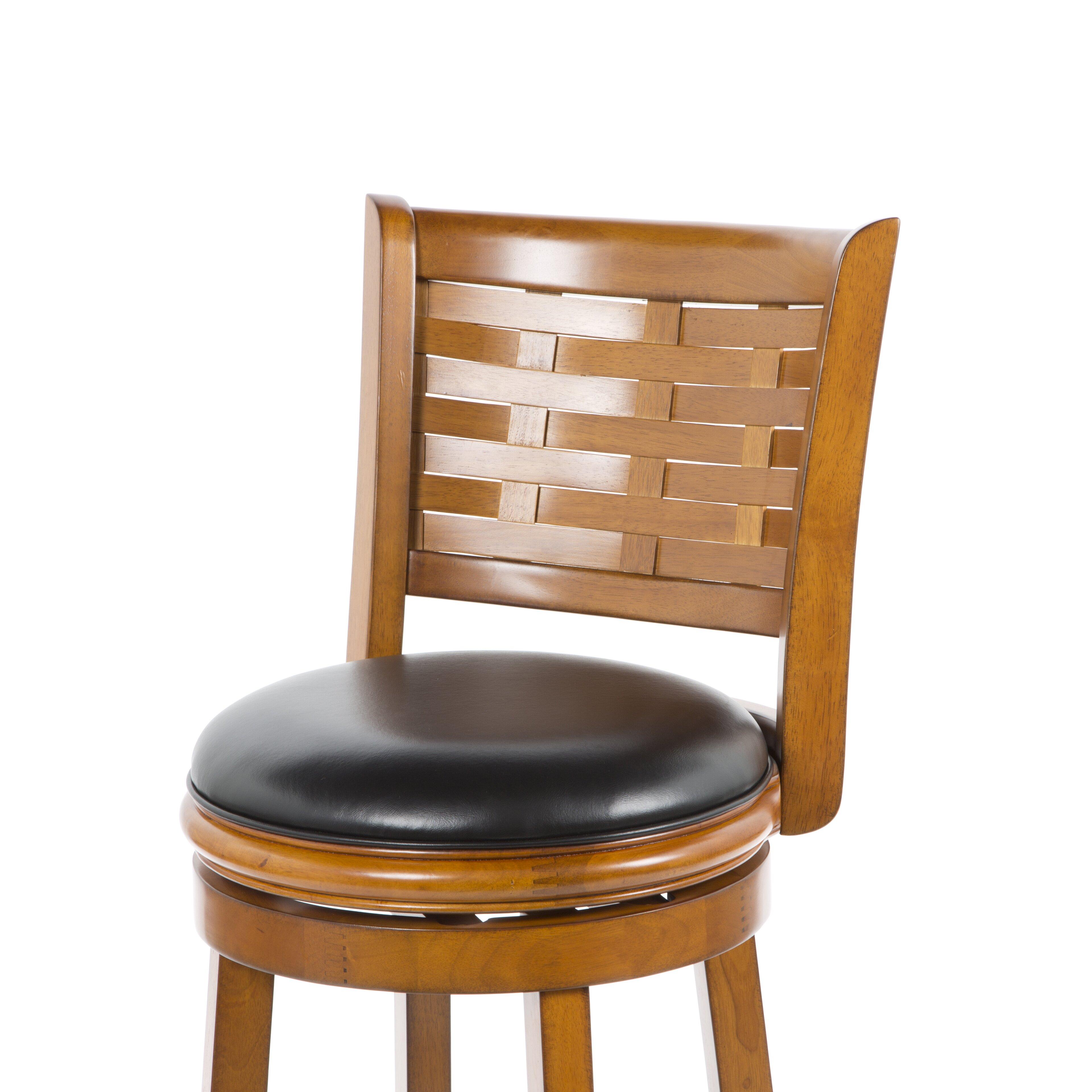 "Christmas Tree Shop Bar Stools: Alcott Hill Westerville 29"" Swivel Bar Stool With Cushion"