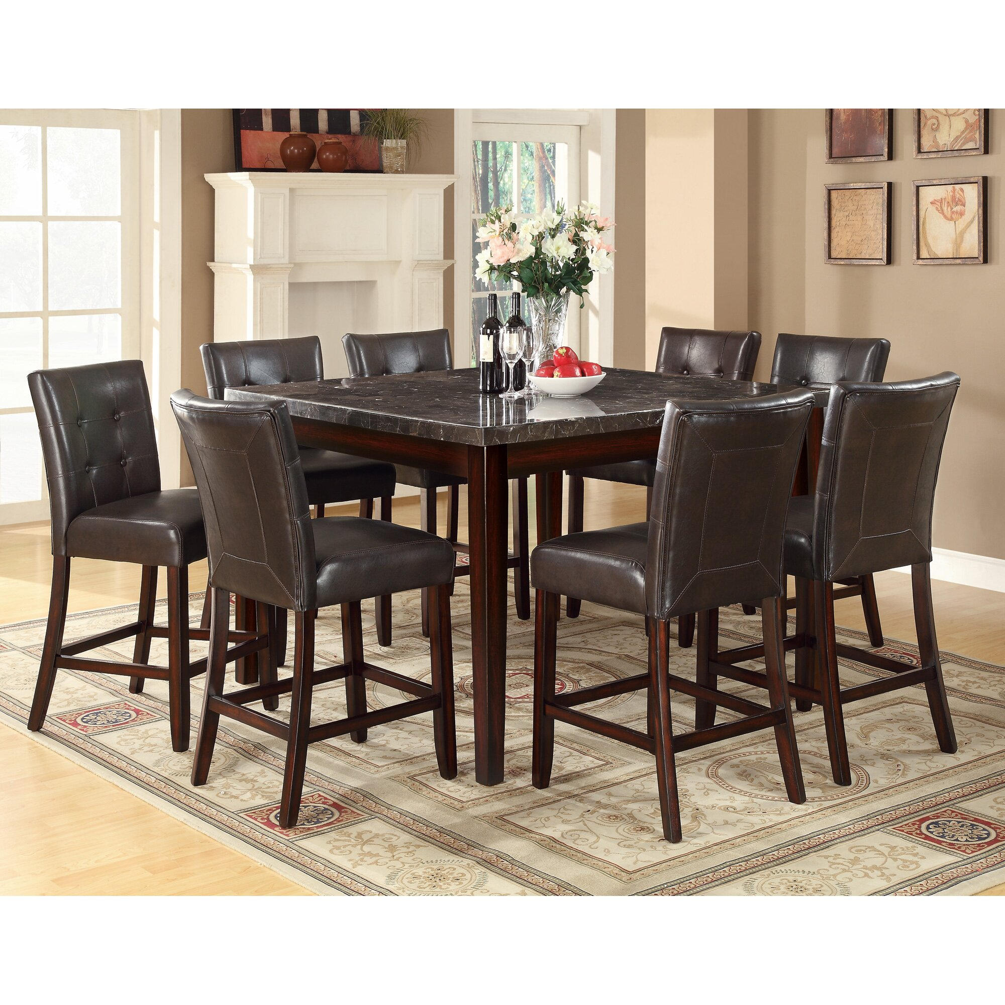 Counter Height Dining Tables: Alcott Hill Cincinnati Counter Height Dining Table