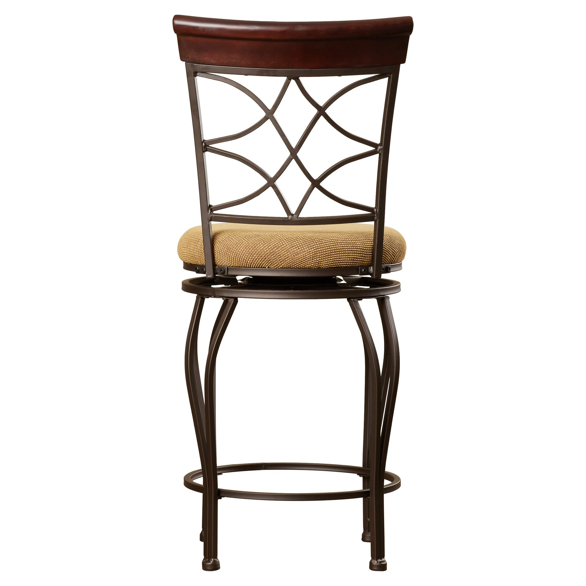 Alcott Hill Reading 24 Quot Swivel Bar Stool With Cushion
