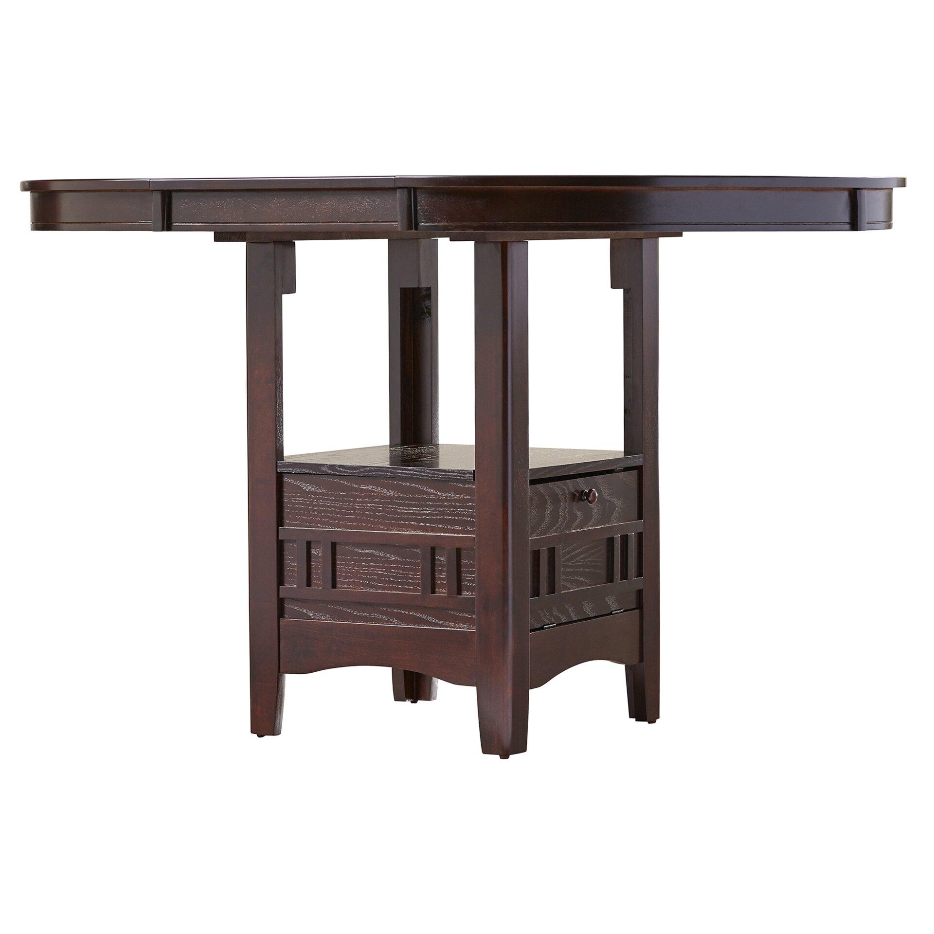 Alcott hill norwalk counter height extendable dining table for Counter height extendable dining table