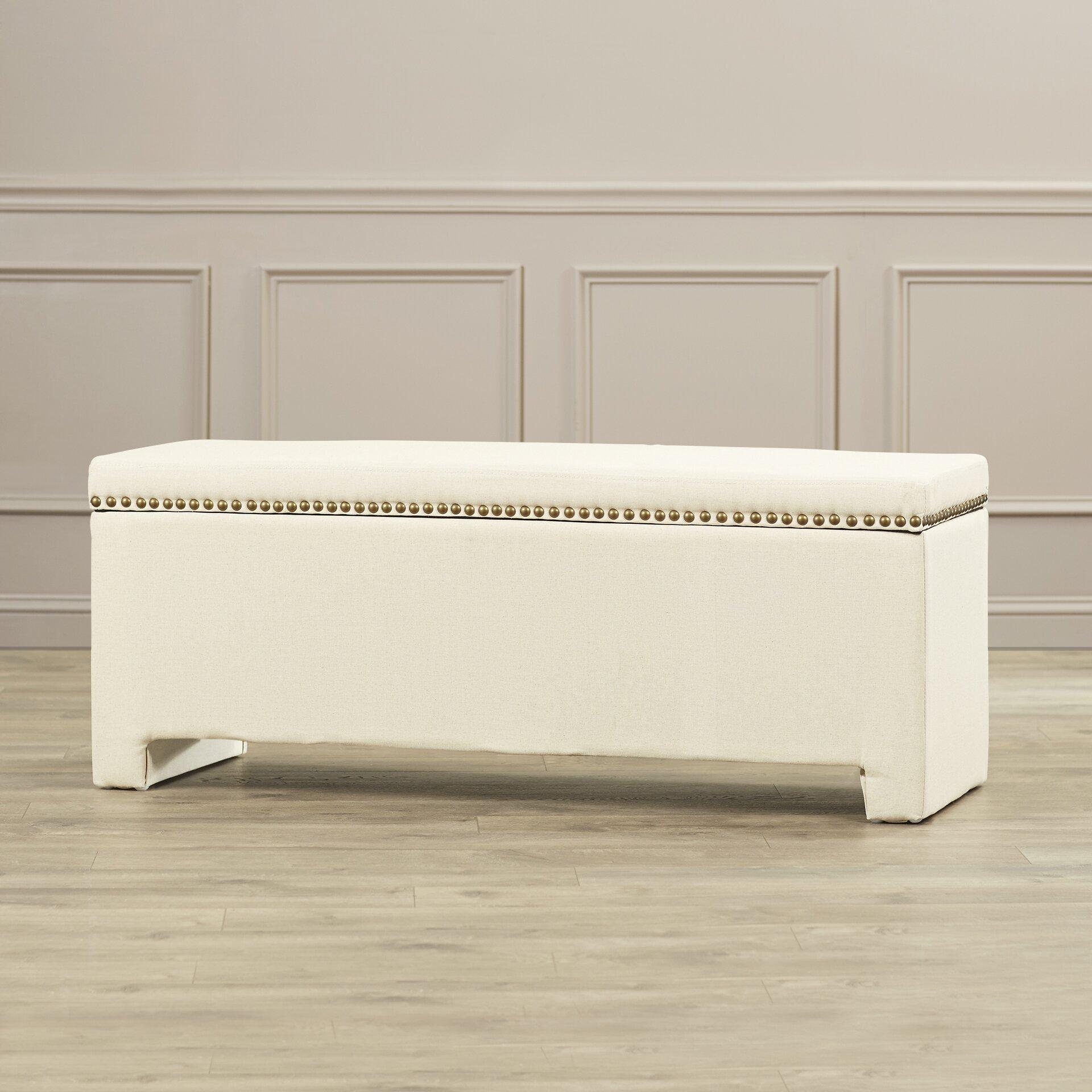 Chandra Upholstered Storage Bedroom Bench Reviews: Alcott Hill Cloville Upholstered Storage Bedroom Bench