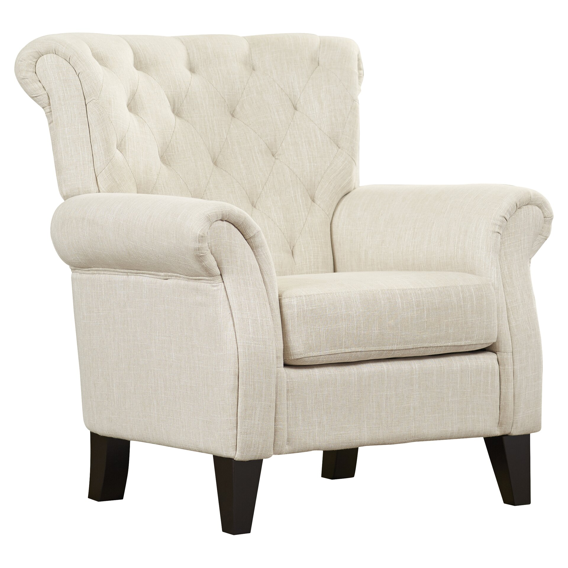 Alcott Hill Springfield Tufted Upholstered Arm Chair  : Springfield Tufted Upholstered Arm Chair ALCT3842 from www.wayfair.com size 1920 x 1920 jpeg 647kB
