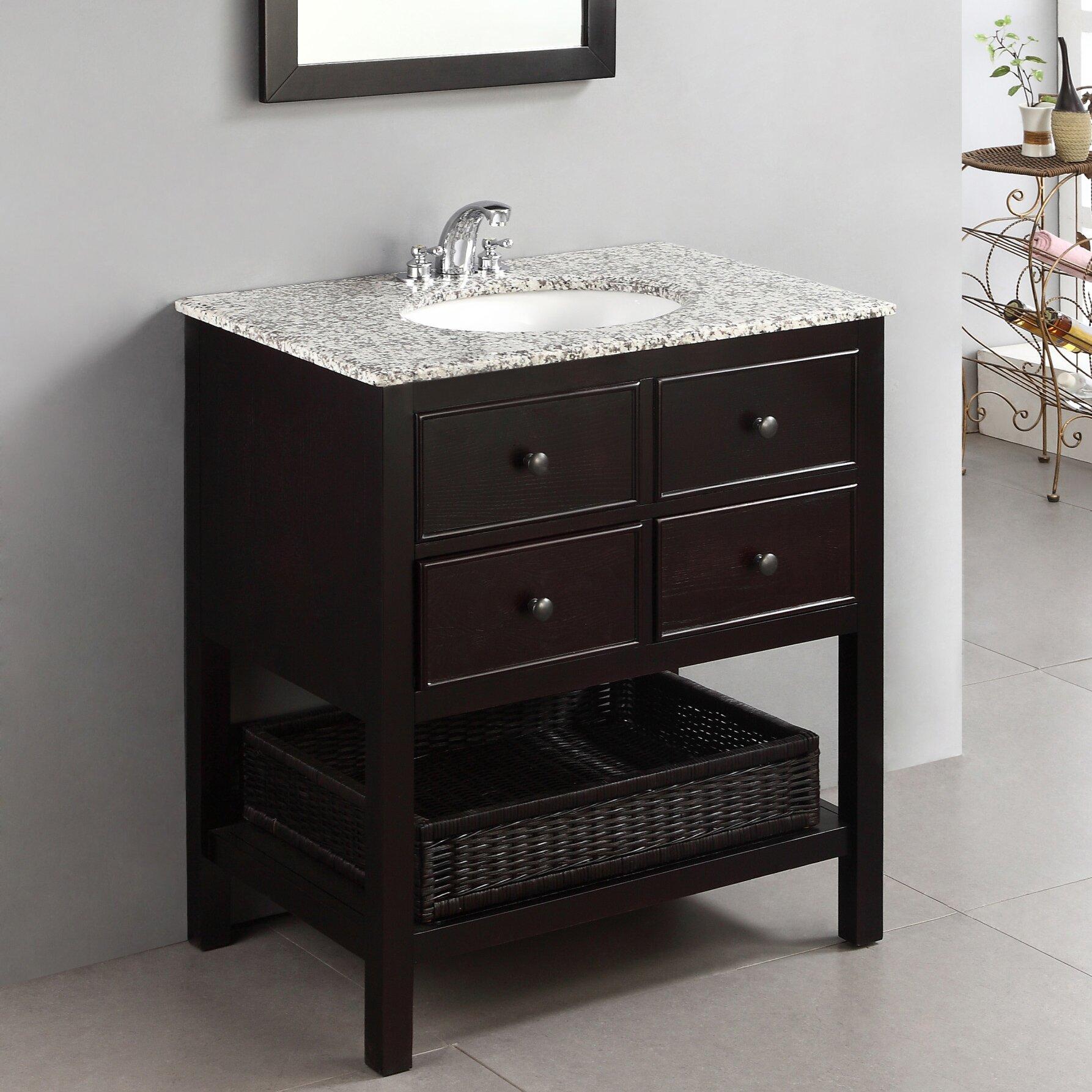 "Alcott Hill Gettysburg 30"" Single Bathroom Vanity Set"