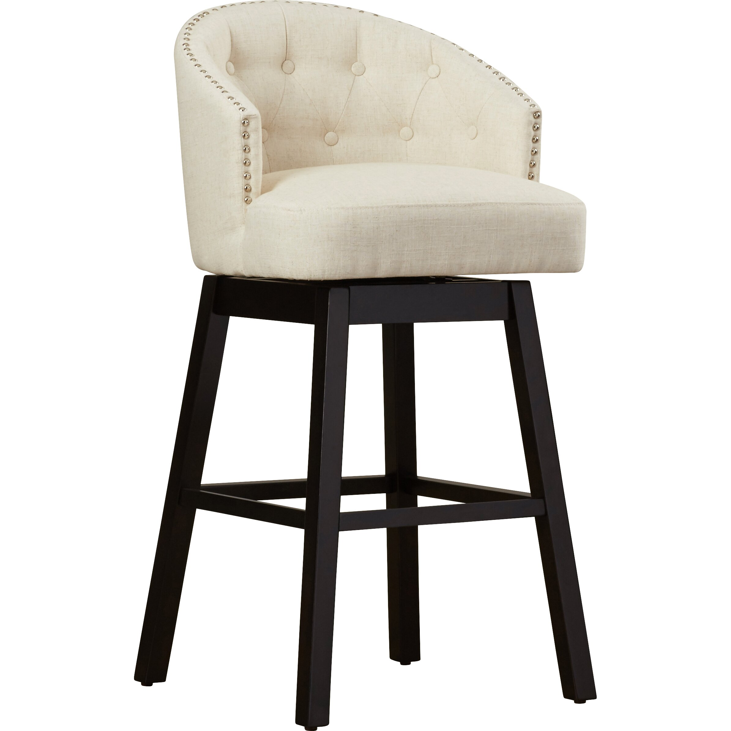 Alcott Hill Farmington 29 Quot Swivel Bar Stool With Cushion