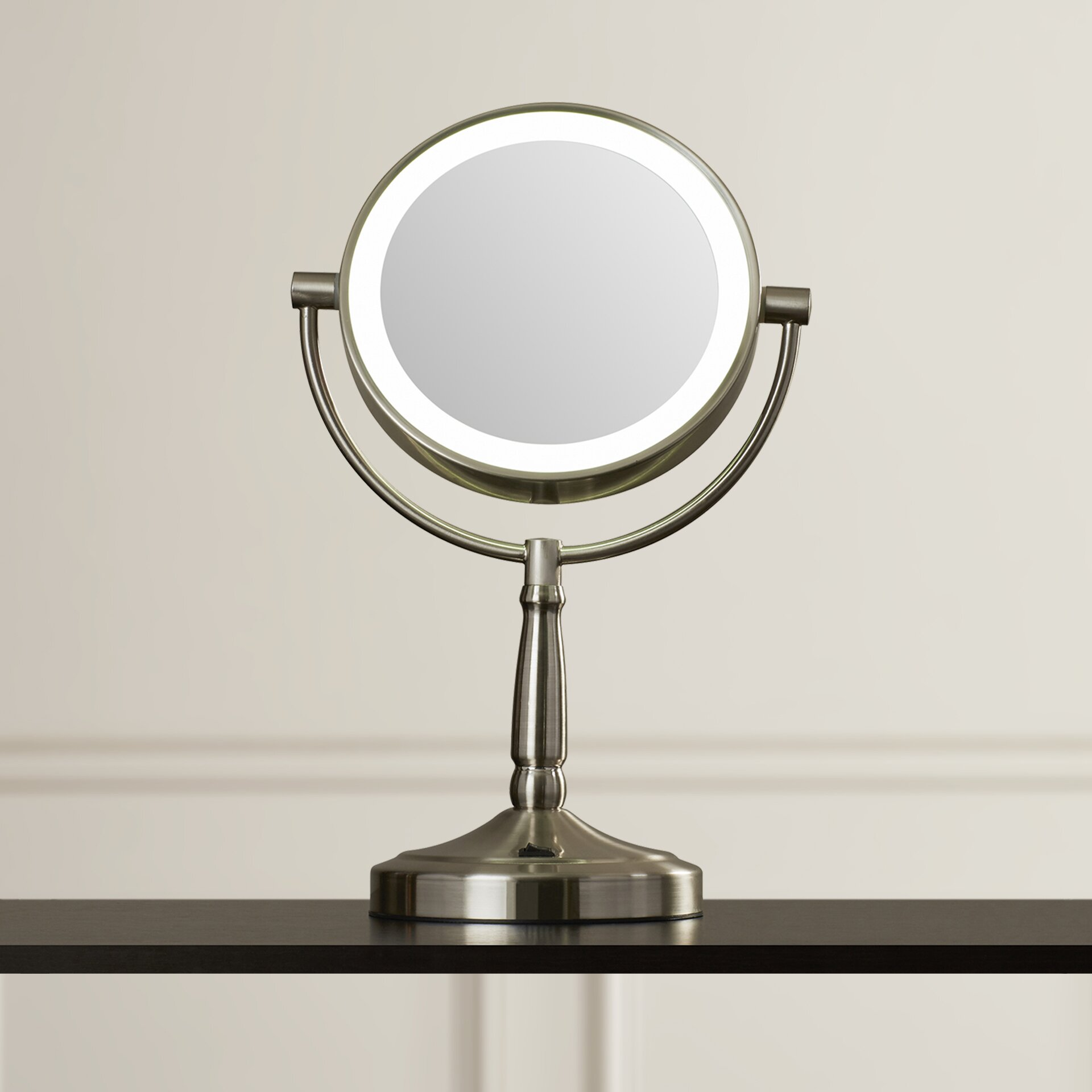 Vanity Mirror With Lights Wayfair : Alcott Hill Cordless Dual-Sided LED Lighted Vanity Mirror & Reviews Wayfair.ca