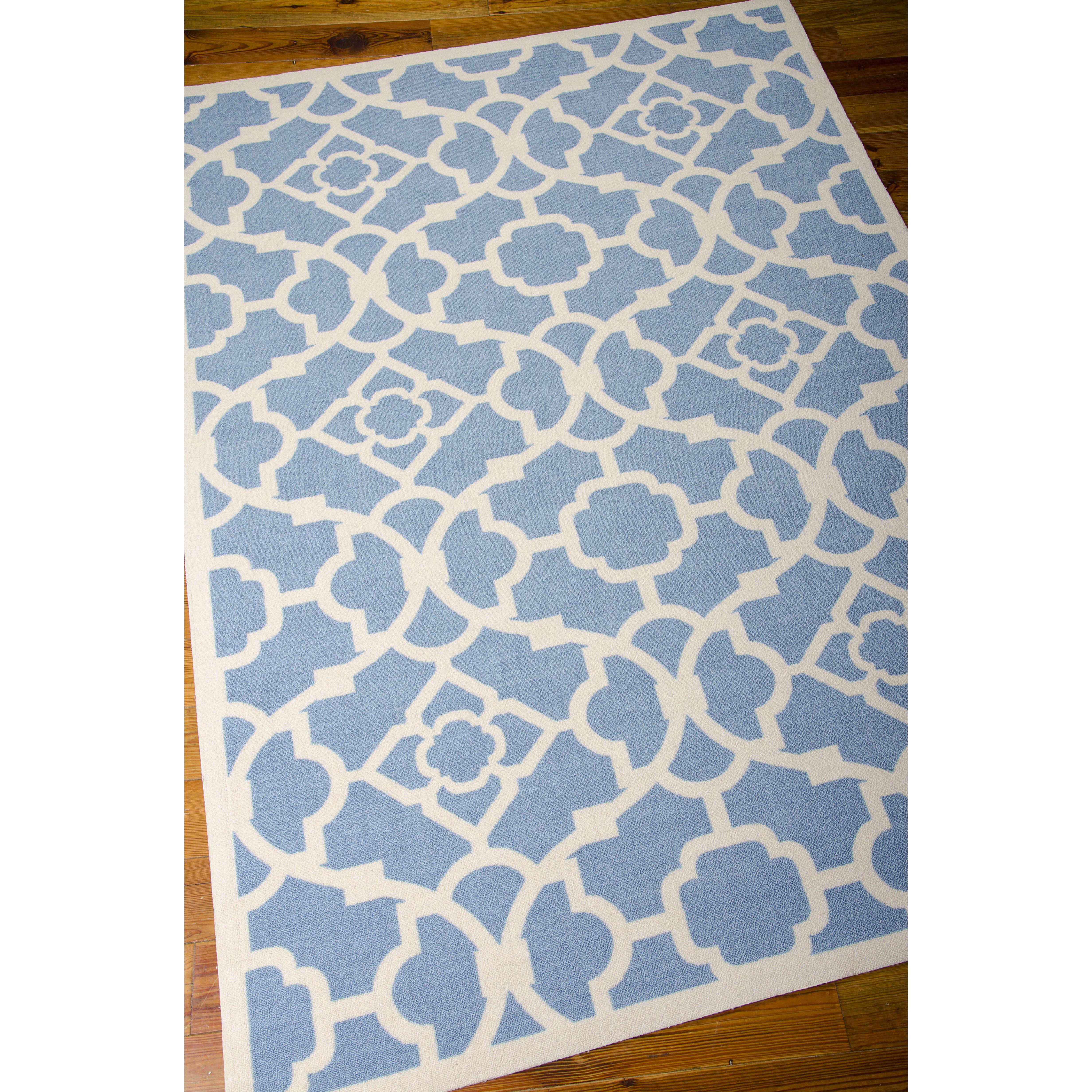 alcott hill kenton indoor outdoor blue white area rug. Black Bedroom Furniture Sets. Home Design Ideas