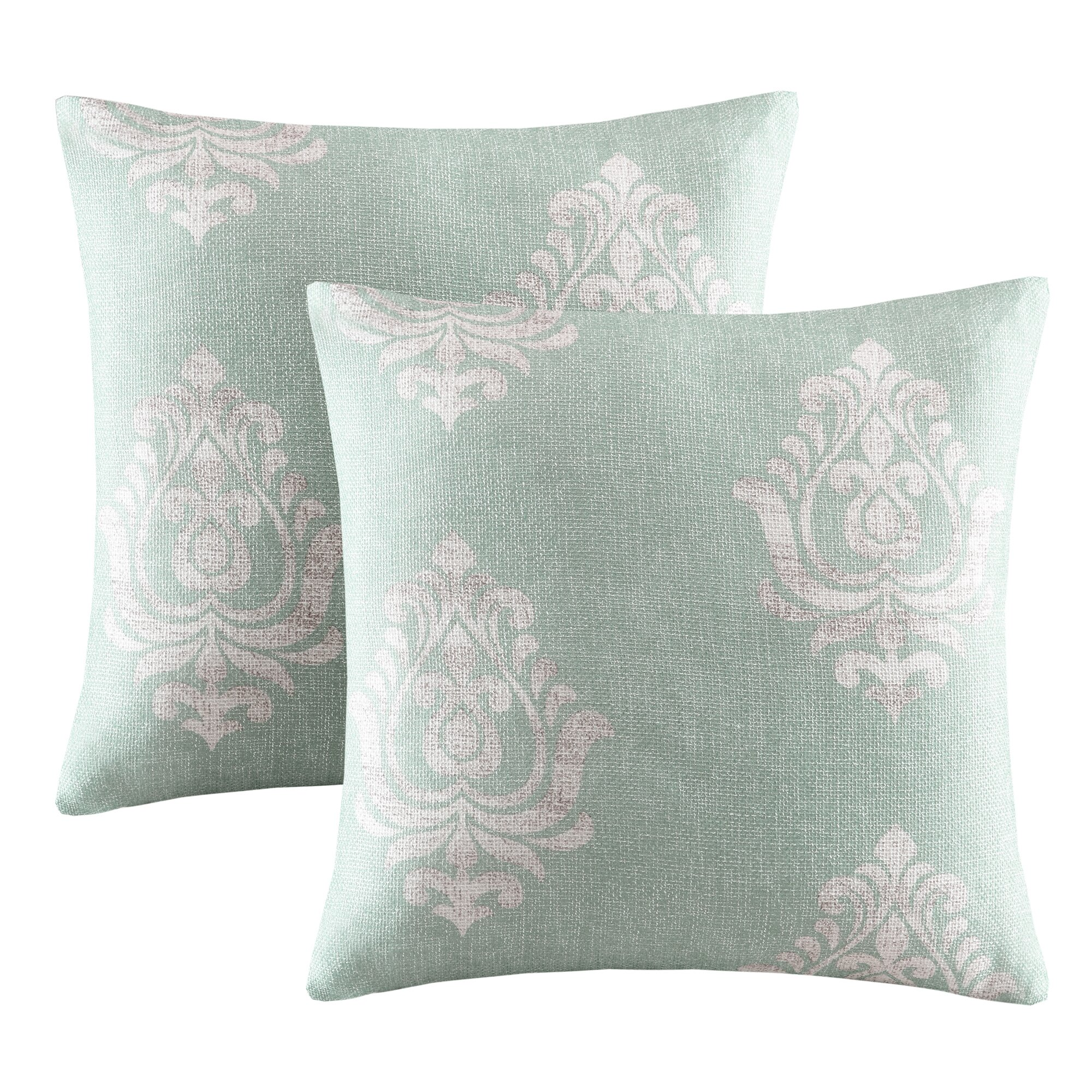 Alcott Hill Morrisdale Texture Damask Printed Throw Pillow & Reviews Wayfair